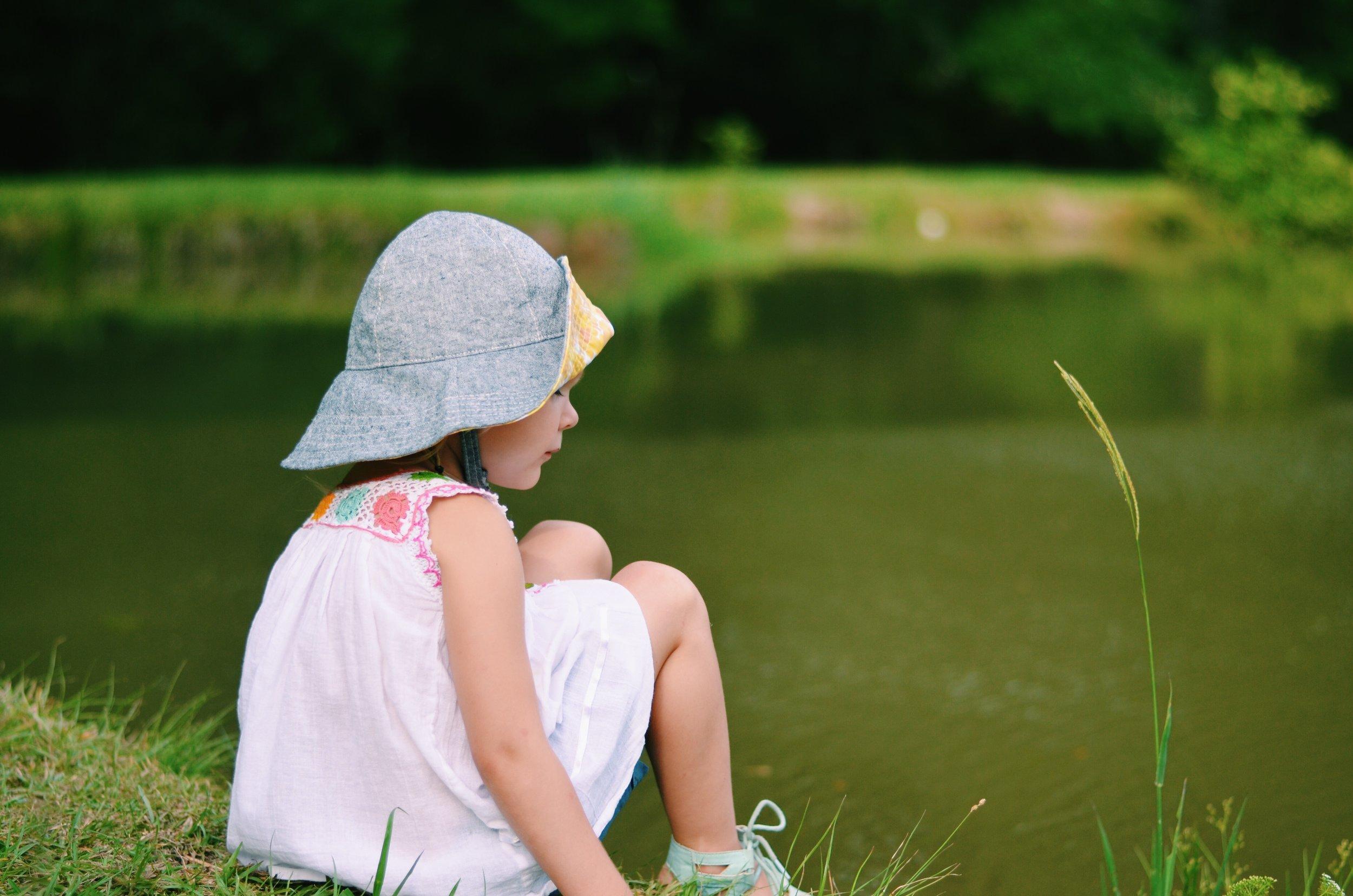 Girl Sun Hat for Summer Handmade by Blue Corduroy on Etsy
