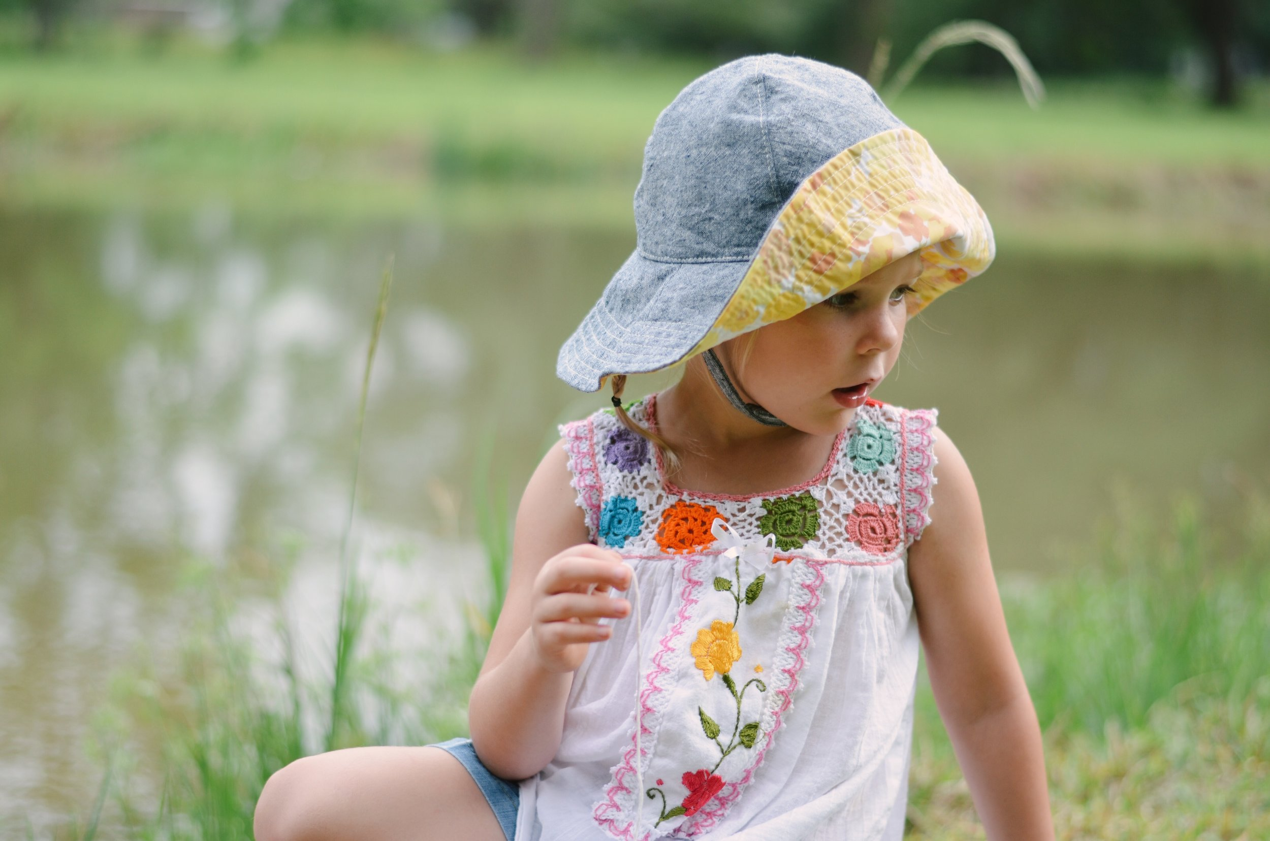 Summer Sun Hat for Girls by Blue Corduroy on Etsy