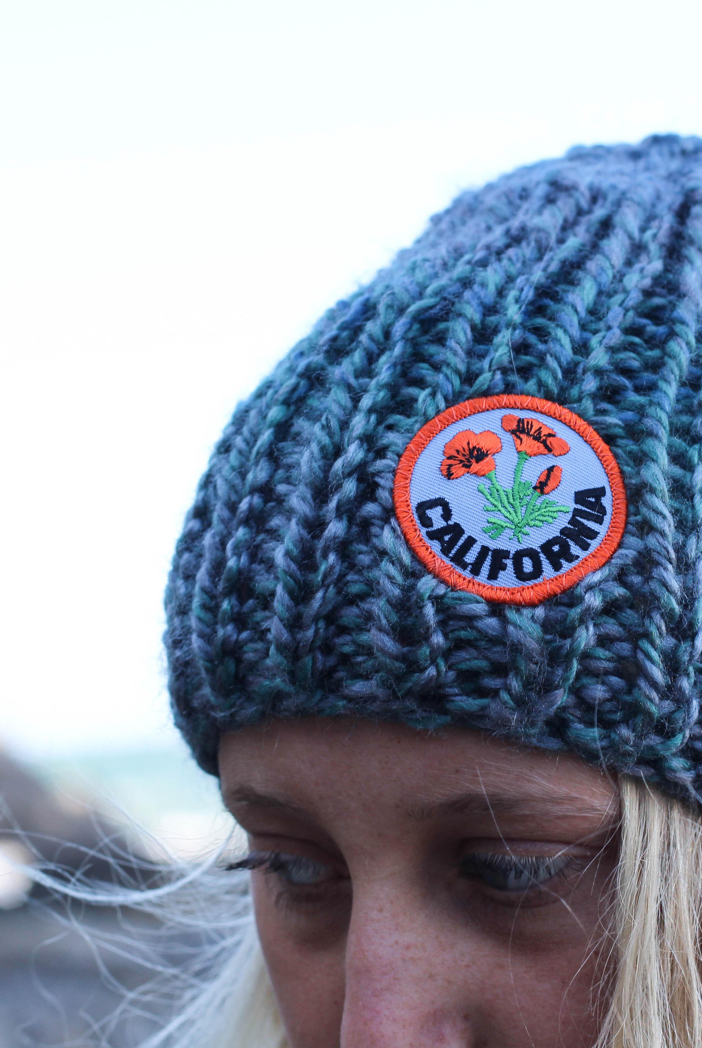 blue knit beanie by blue corduroy, california love