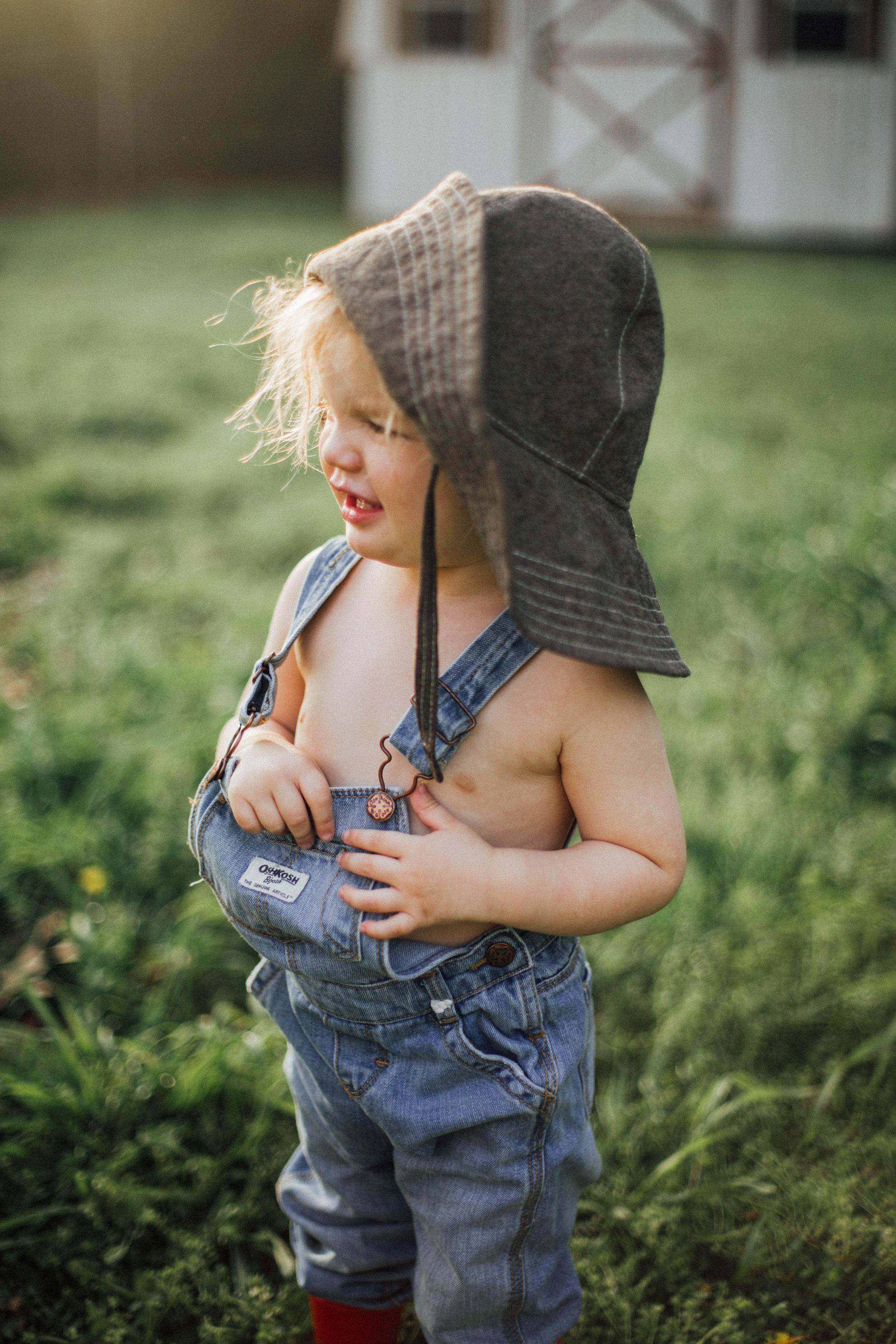 Brown Boy Sun Hat by Blue Corduroy