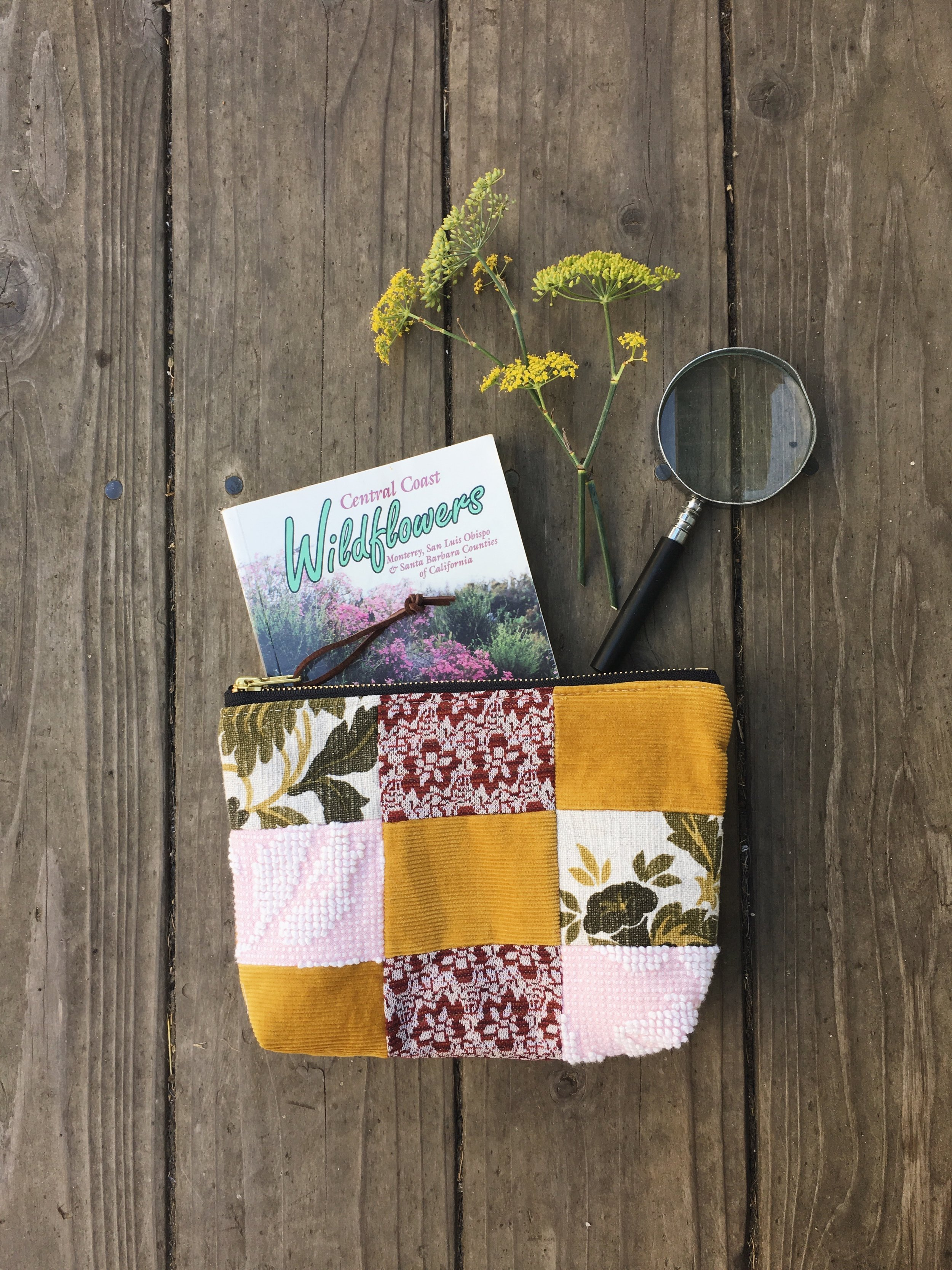 yellow patchwork zipper bag by bluecorduroy.com