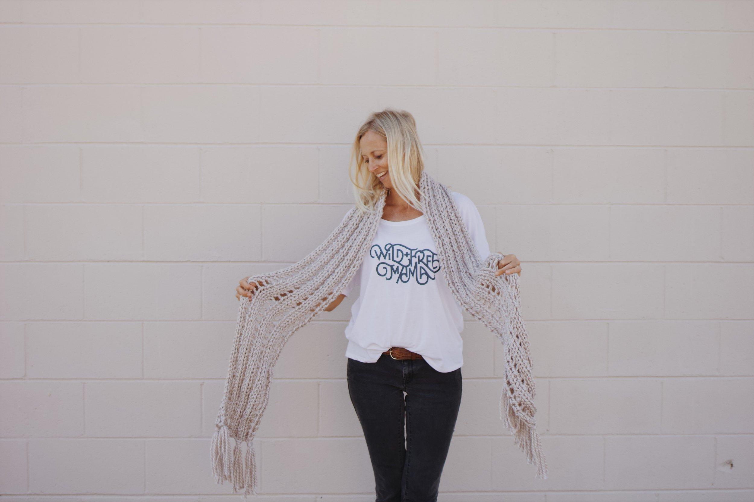 Knit Scarf for Women by Bluecorduroy.com