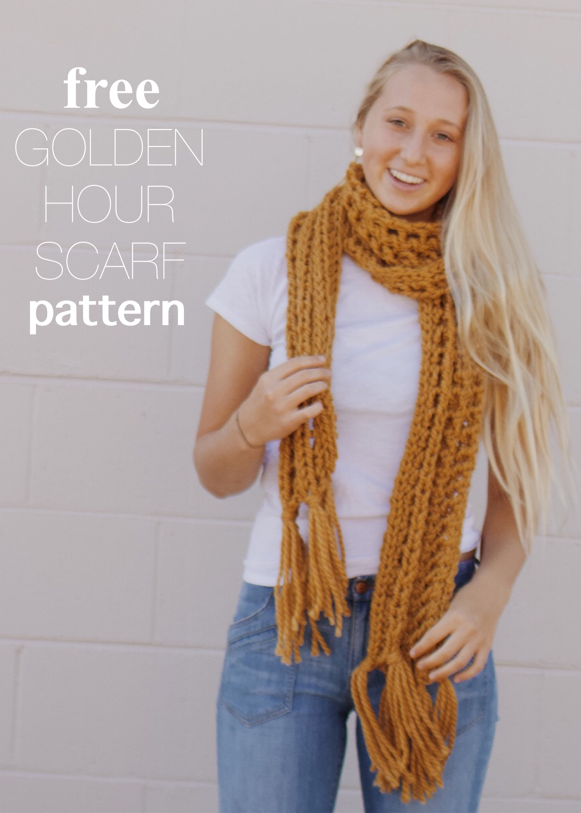Free Knit Scarf Pattern with Fringe by BlueCorduroy.com