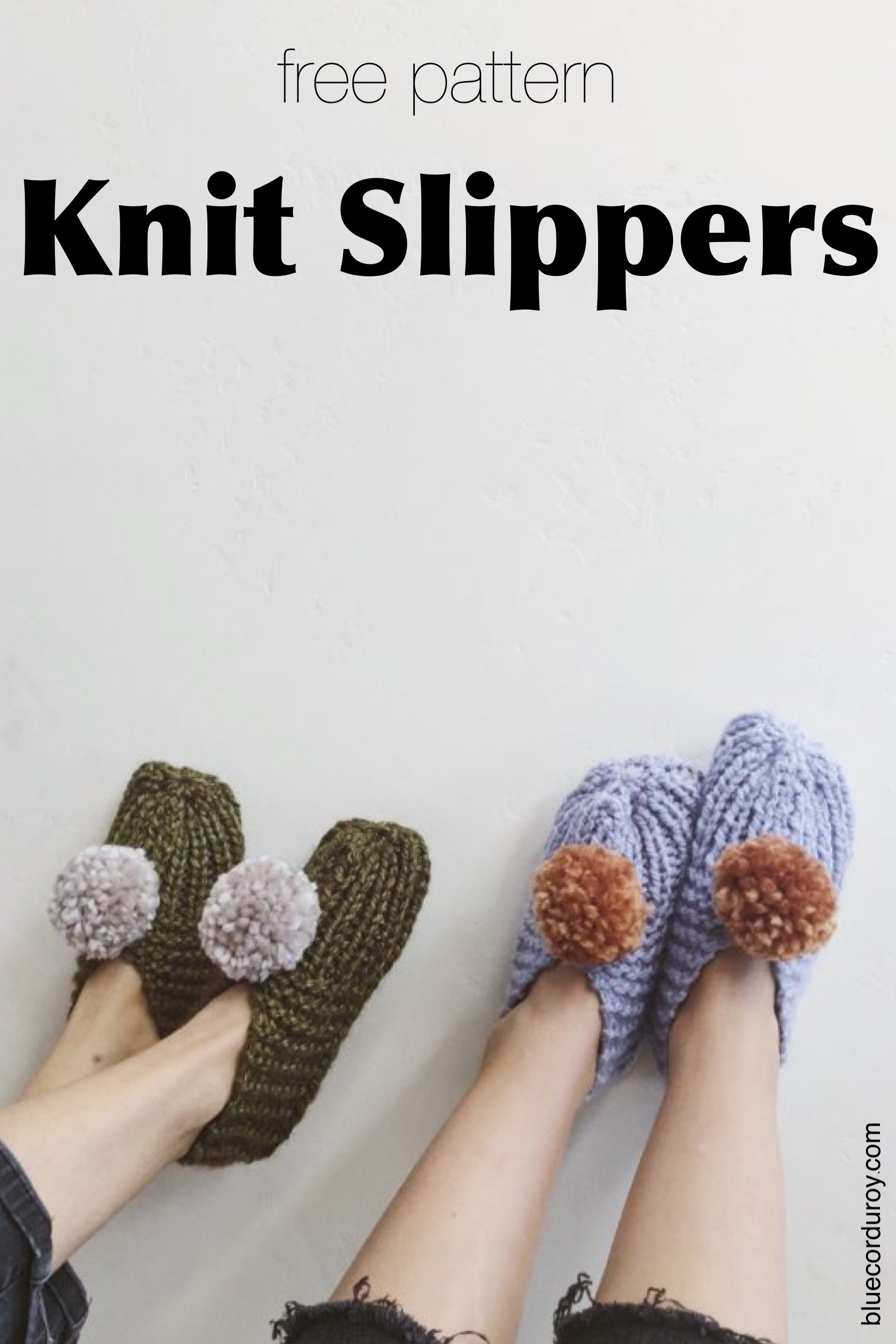 free pattern to knit your own slippers