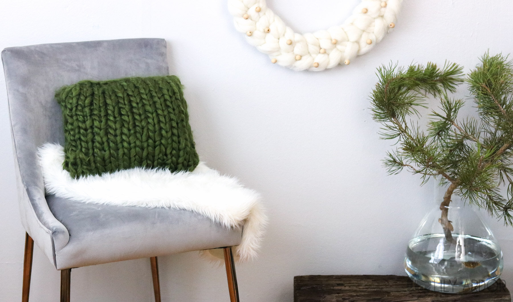 free knit pattern for chunky throw pillow
