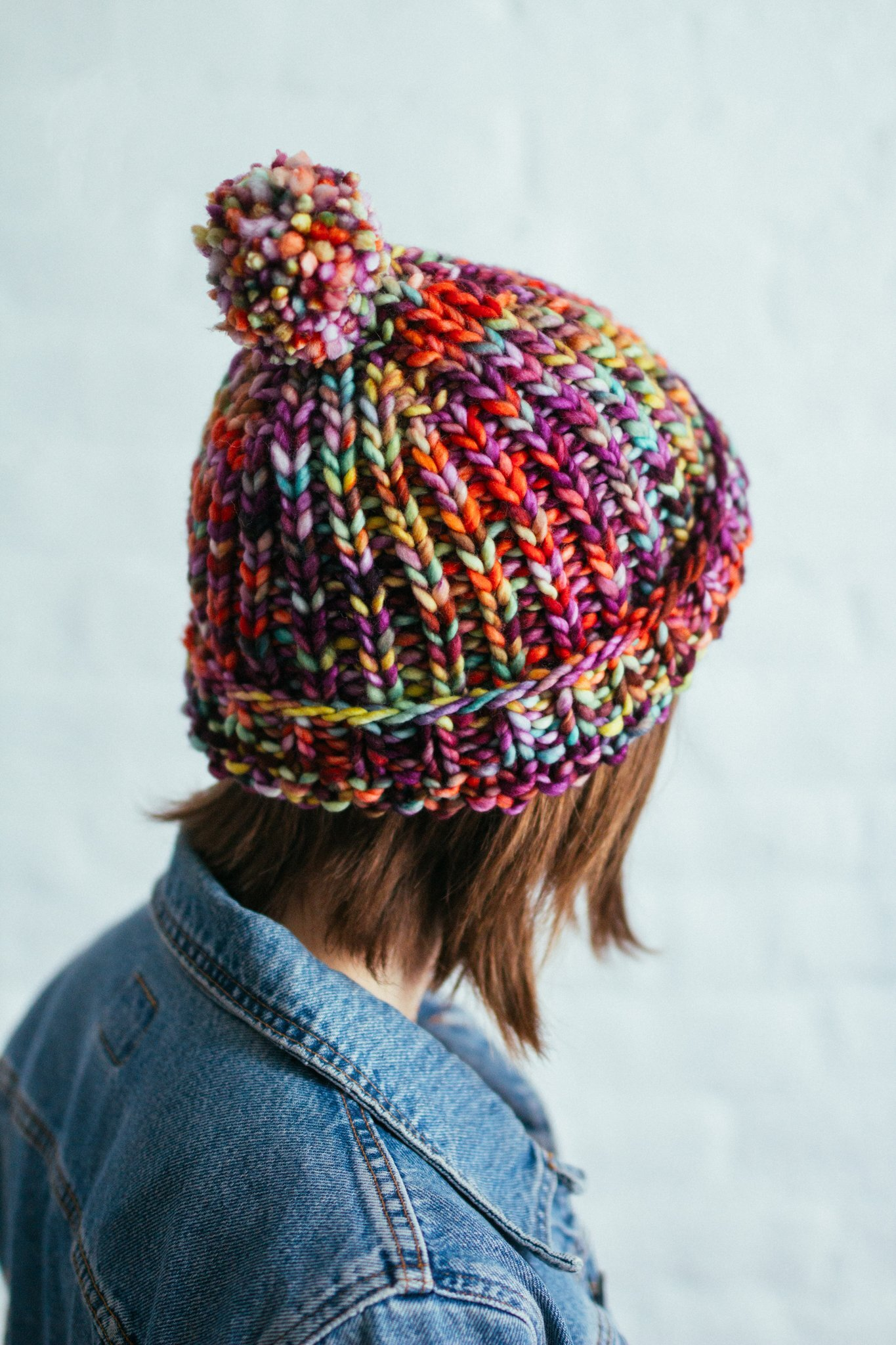 free knit pattern for basic beanie by Manos