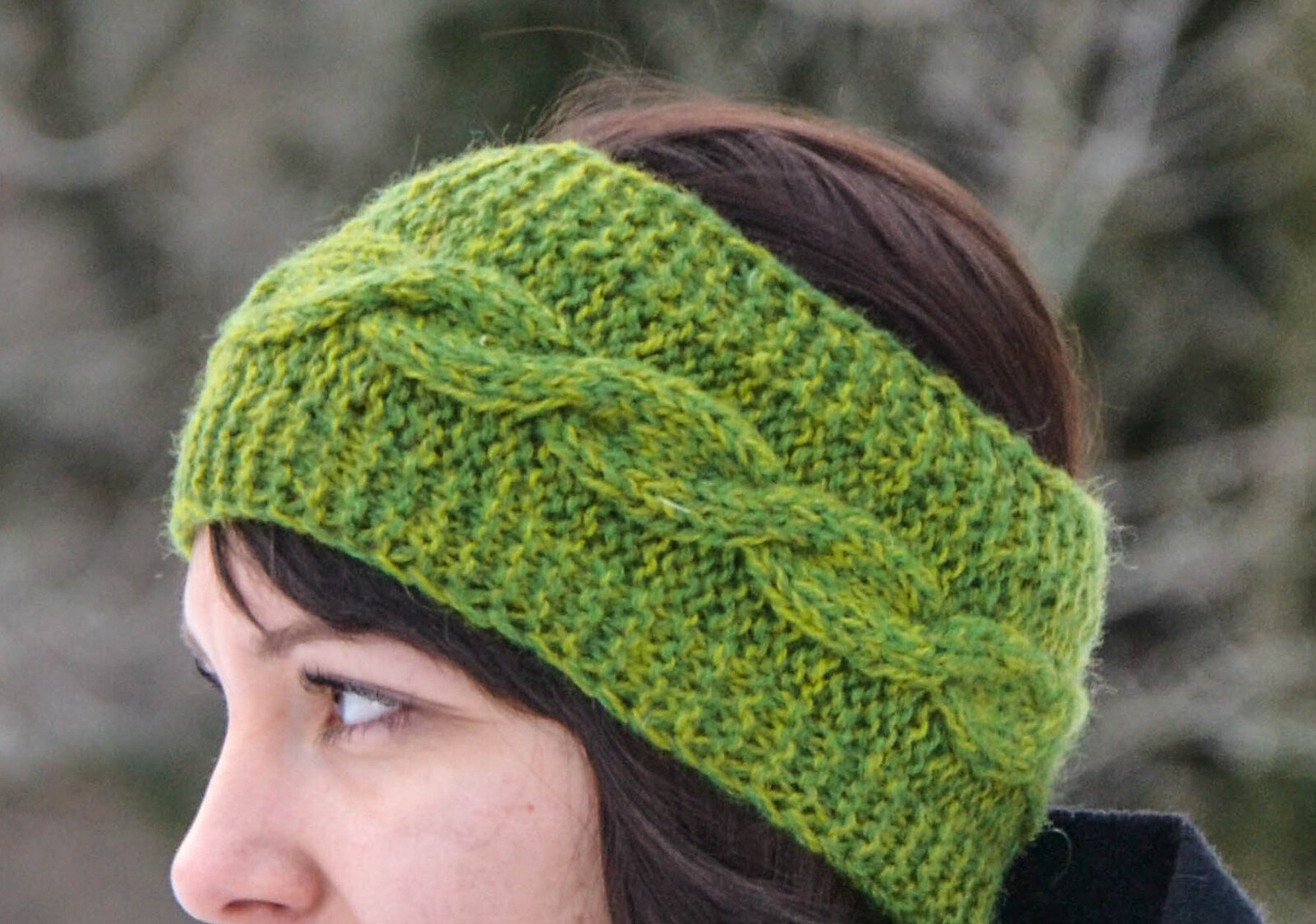 free knit pattern for cable head band