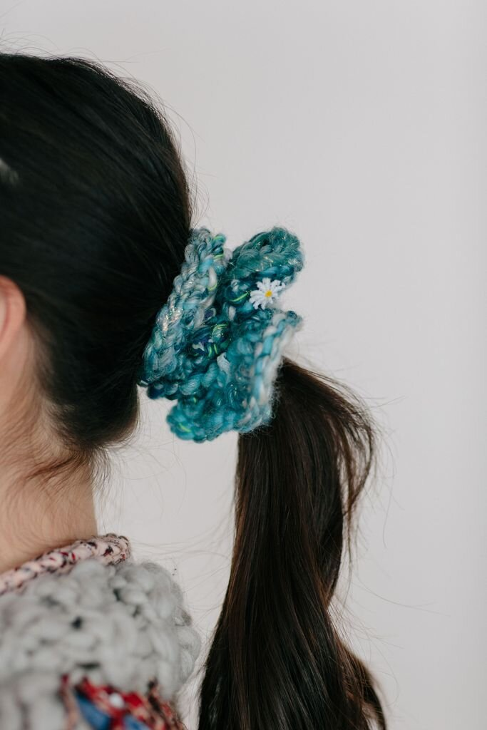 free knit scrunchie pattern by knit collage