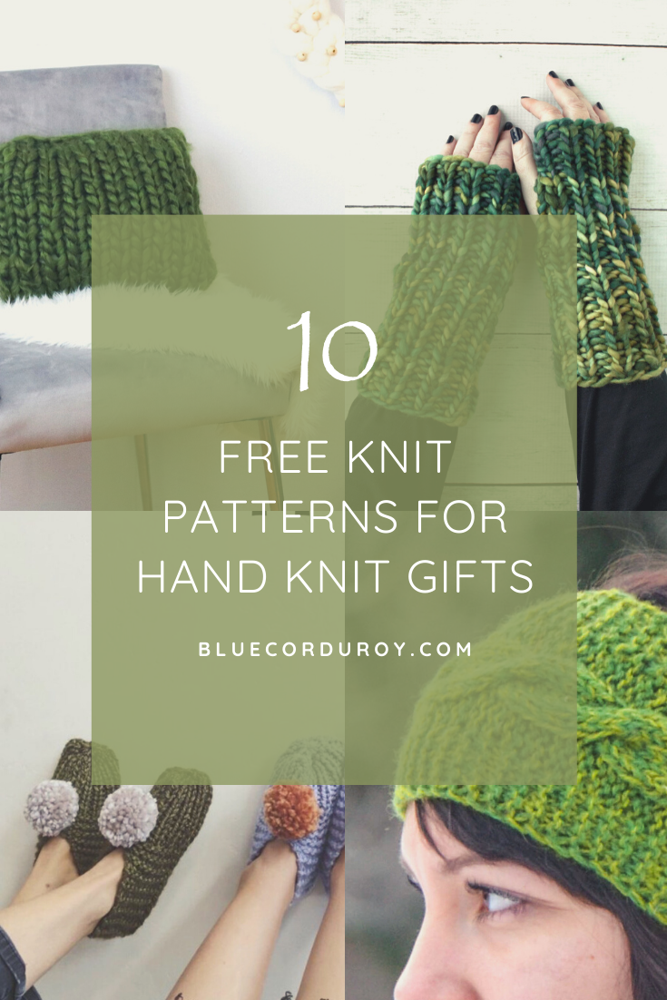 10 free knit patterns for hand made gifts