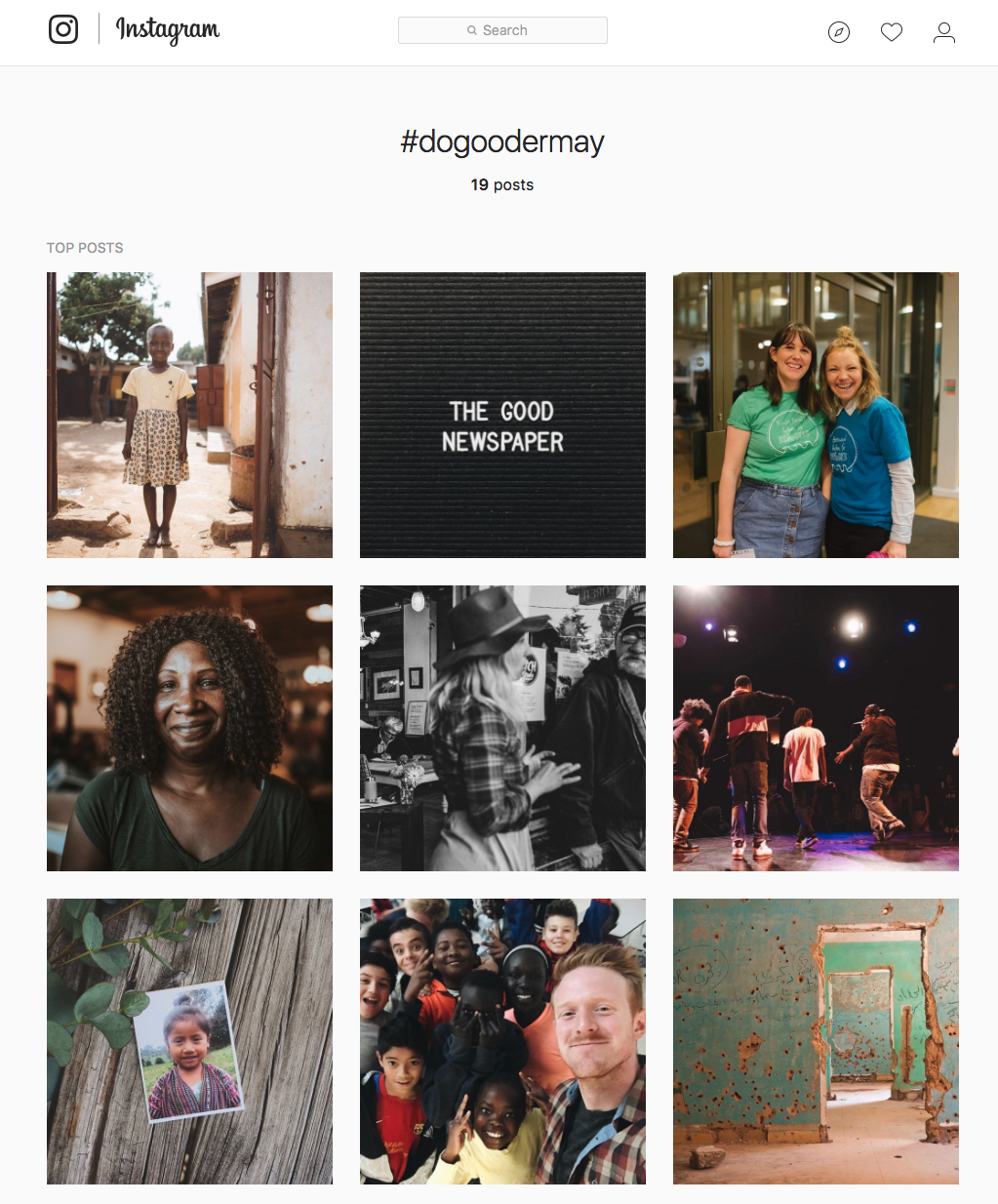 check out #dogoodermay on Instagram to check out our community's posts!