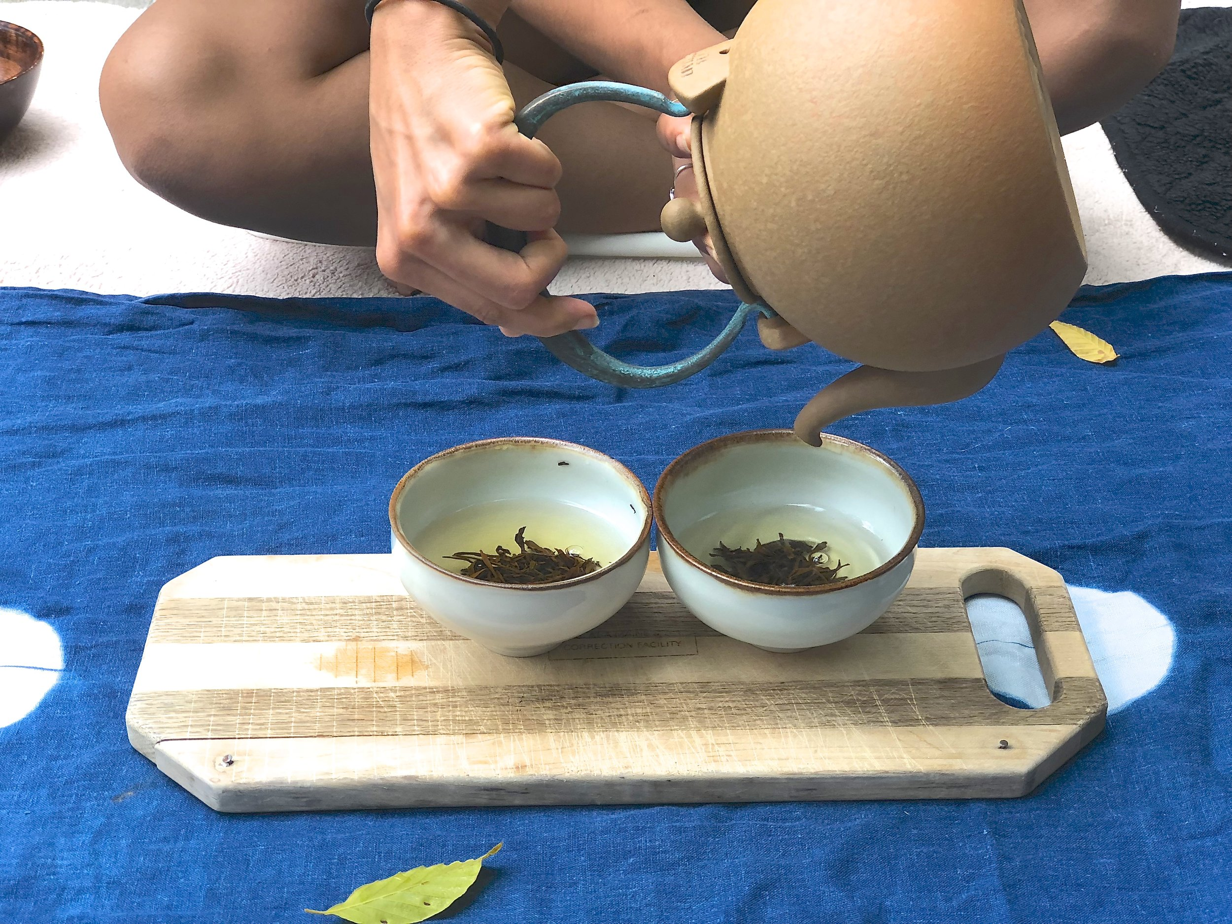 Photo by Amanda Blair of a beautiful tea ceremony we had when things fell through with a situation. The tea ceremony brought us calm, rebalance, and joy!