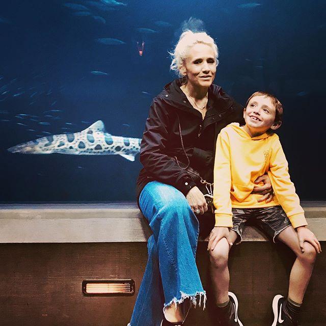 Me, auntie & leopard shark