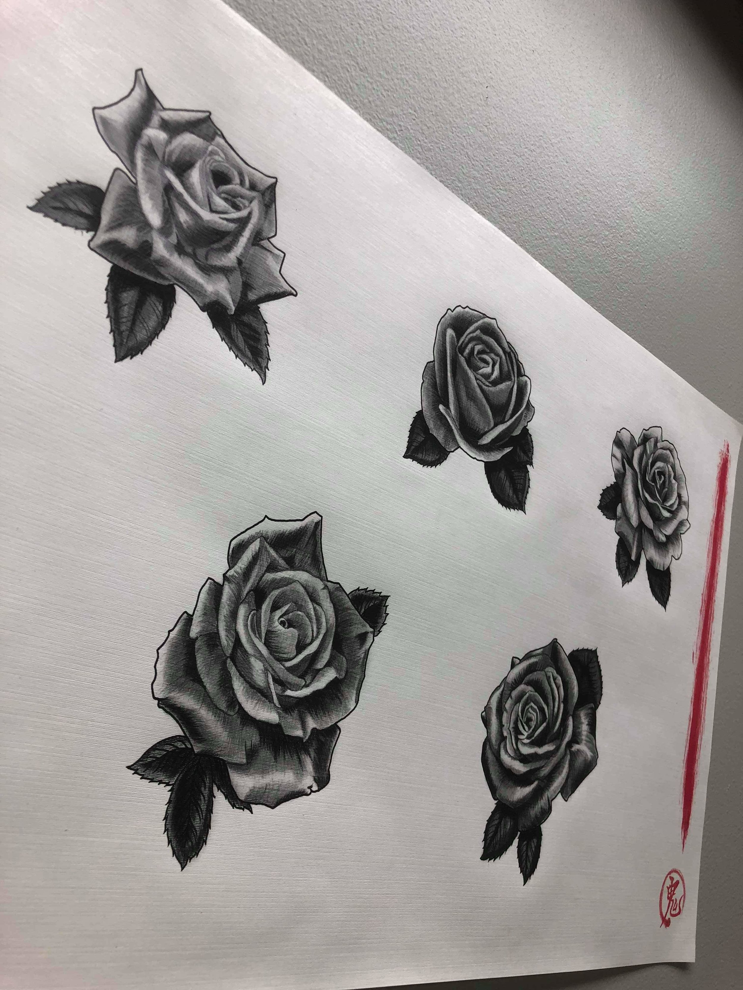 Reed Wu - Reed will be doing these flash rose designs he made for $50 each. There will be no limit on how many times these will be done.