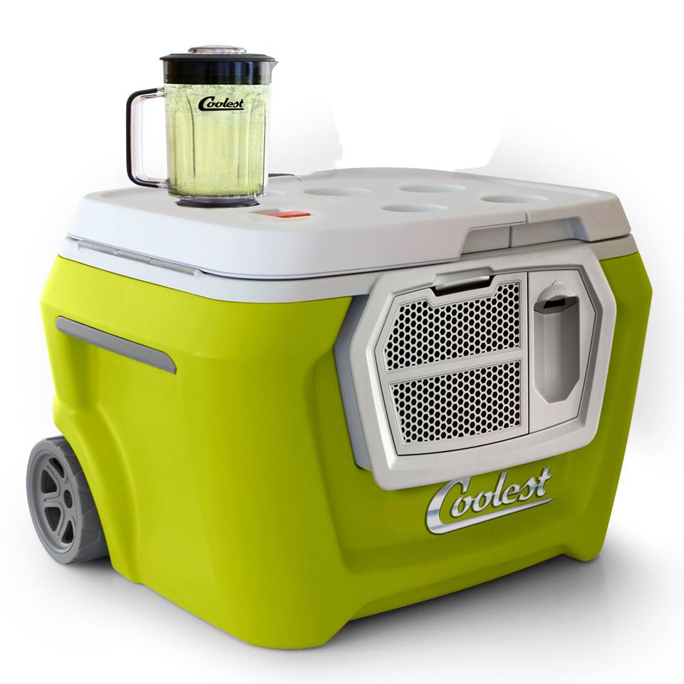 Gone are the days of boring, old-fashioned boxed coolers! This cooler has been completelyrevamped it for our modern-day dads. The  Coolest  is the only all-in-one outdoor entertainment solution you'll need for tailgating, camping, picnics, beach parties, barbecues, and anytime you're enjoying the great outdoors. It includes a blender, speakers, USBcharger, wheels, light, bottle opener, tie-down straps, and built-in storage. You will definitely be the coolest if you give this as a gift!