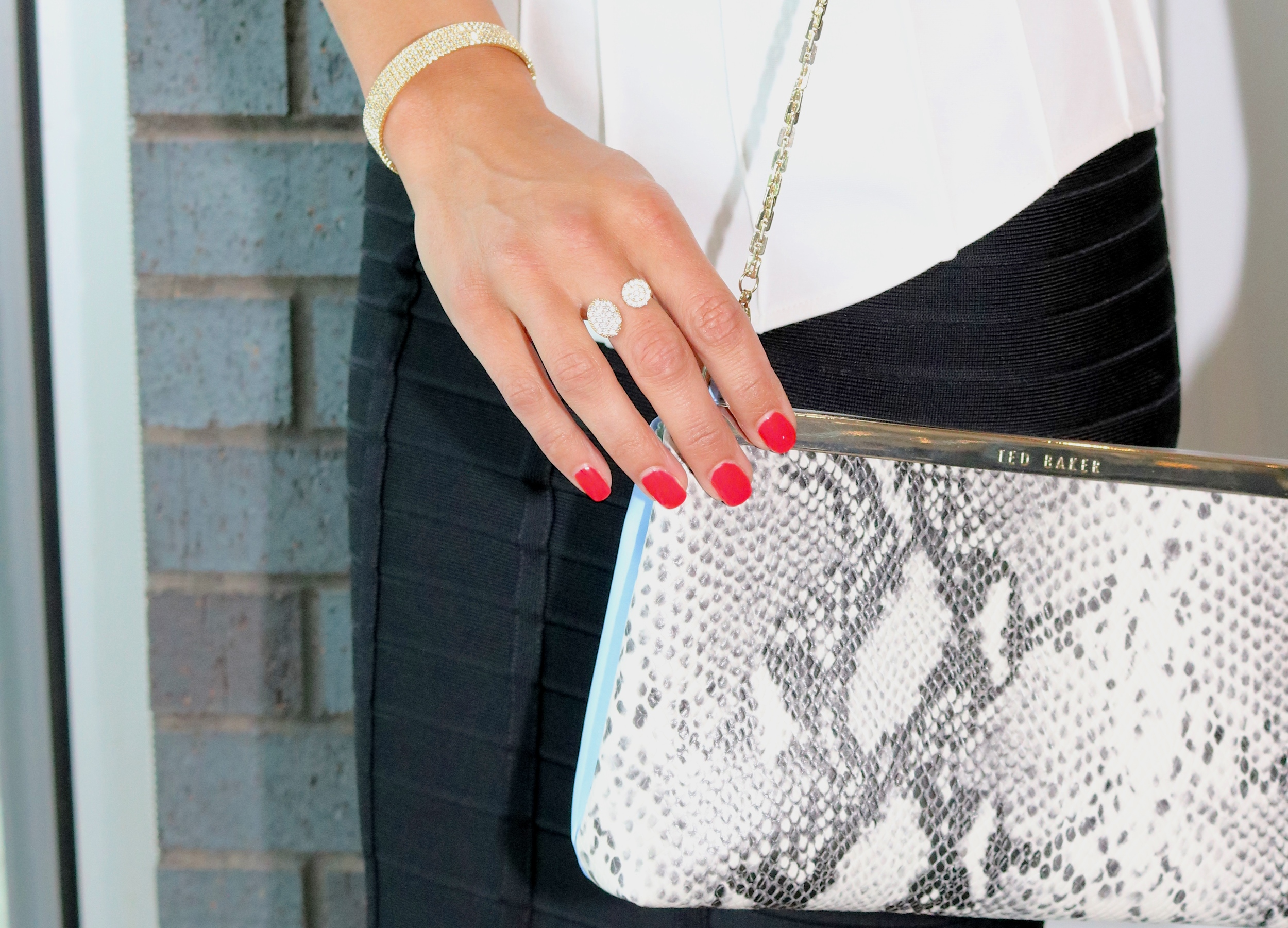 LIBERTÉ  Sun and Moon ring  and  Ted Baker Clutch  (on sale for $122)