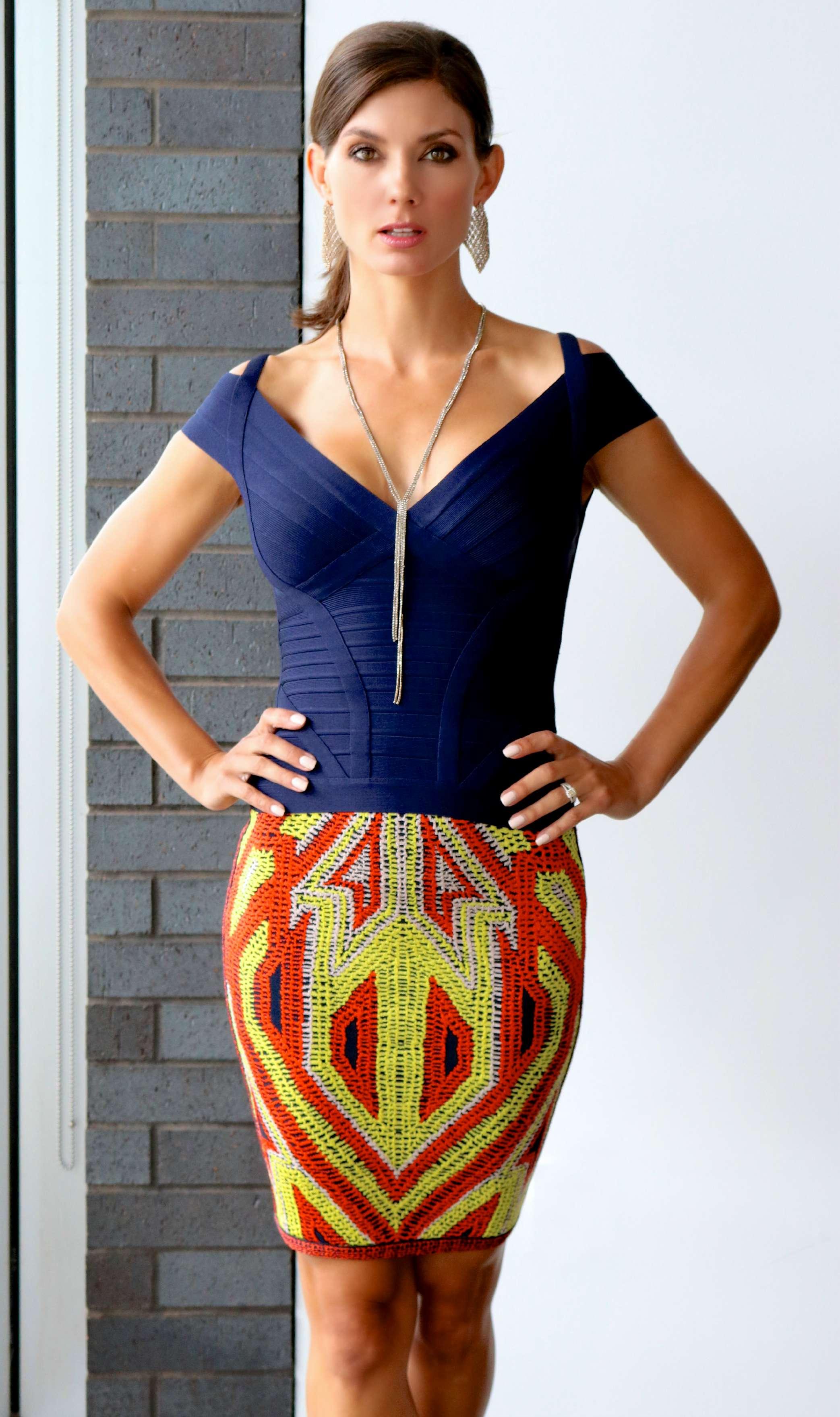 Herve Lever Lenore Essential Top  &  Herve Leger Ola Jacquard Skirt