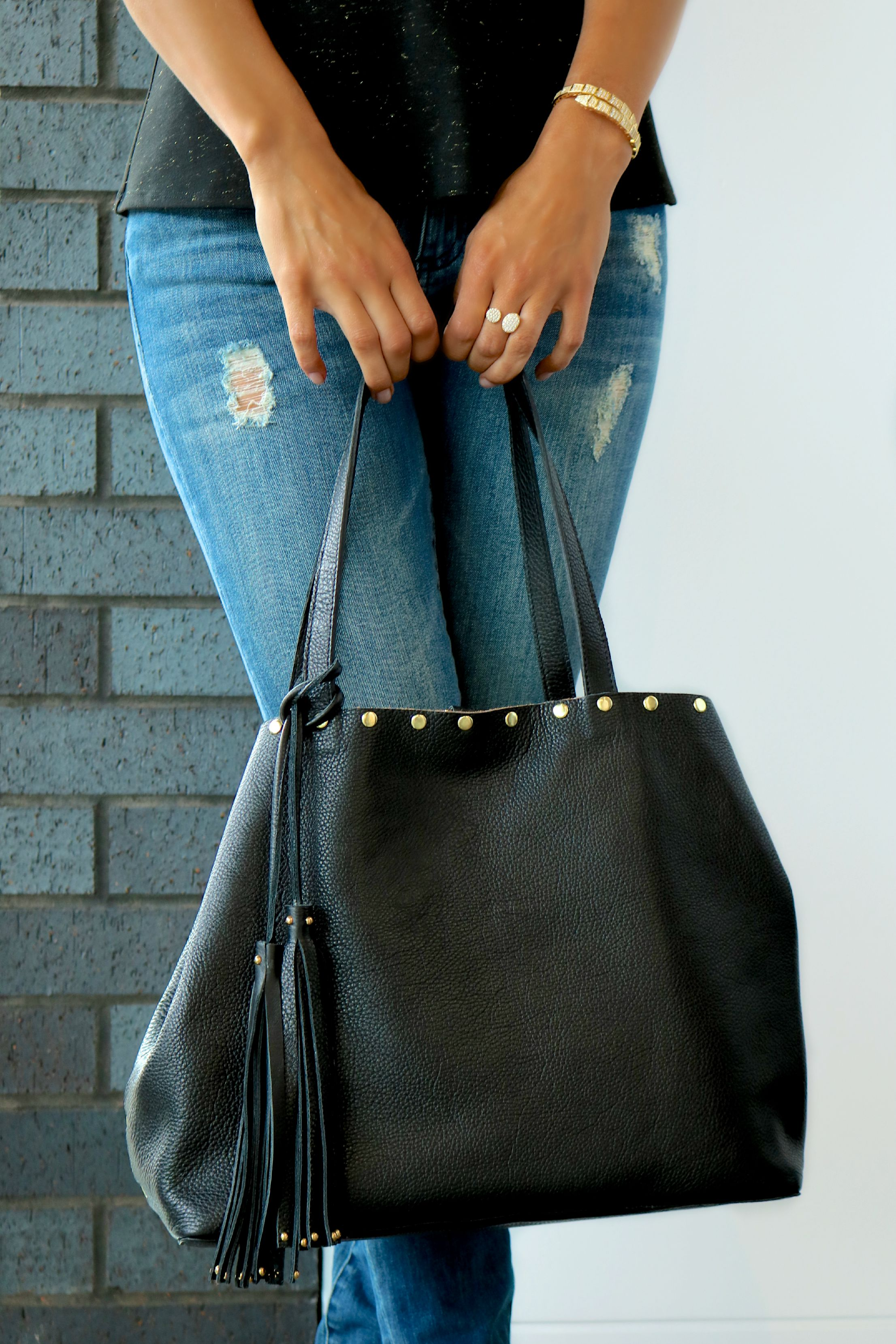 Florence Insta Sculpt In Hunter & LAGGO Leather Tote Available In Store