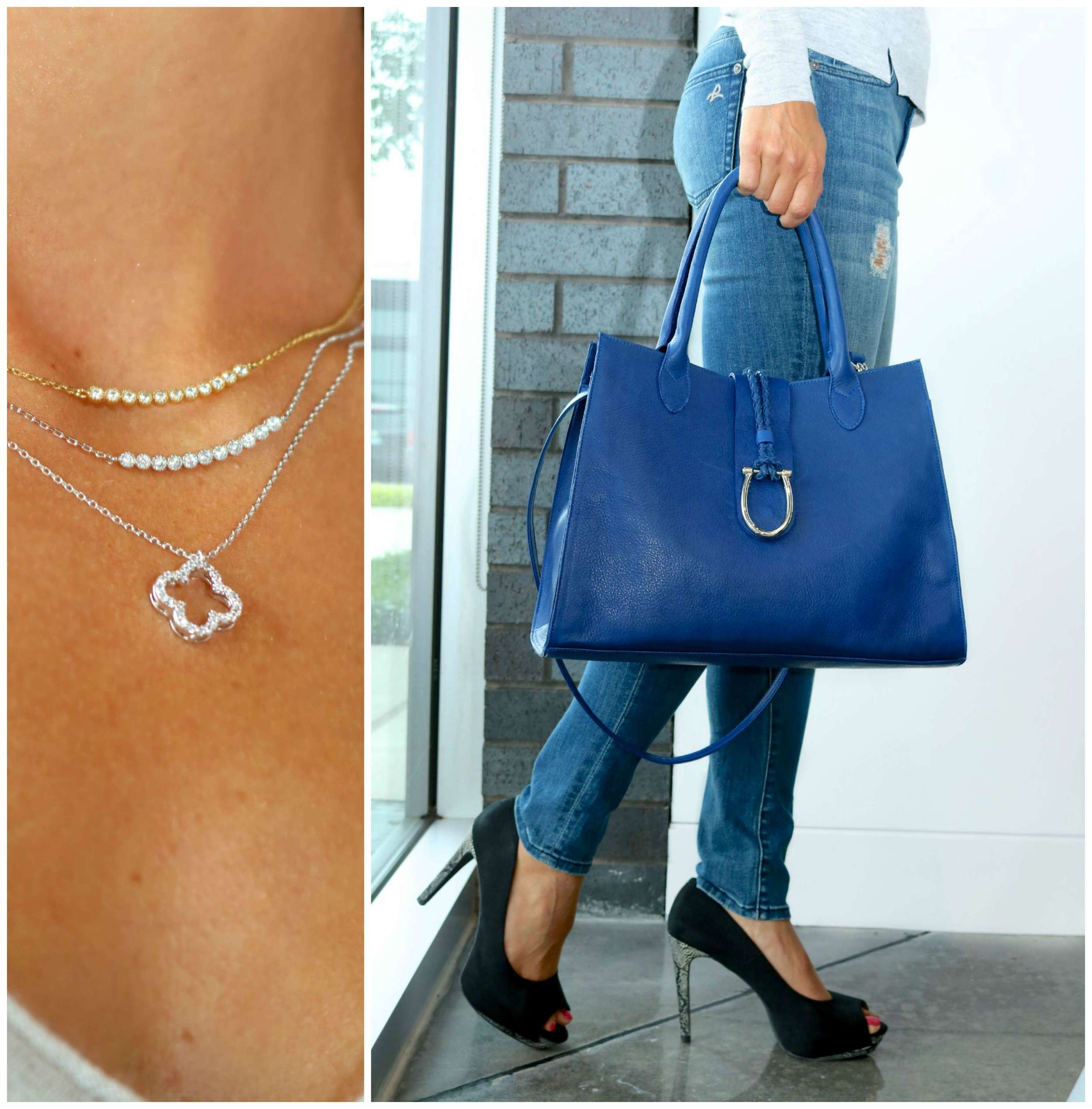 White Gold and Yellow Gold Necklace Separates & LAGGO bag