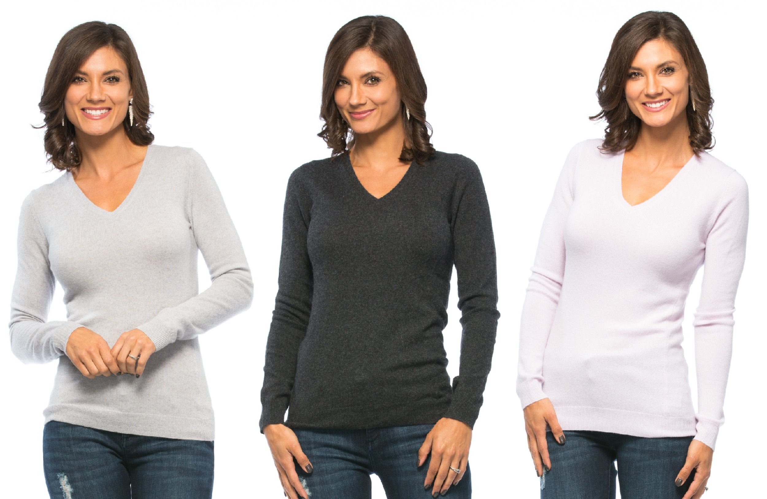 Christopher Fischer Modern Cashmere V-Neck, 12 gauge: available in three colors