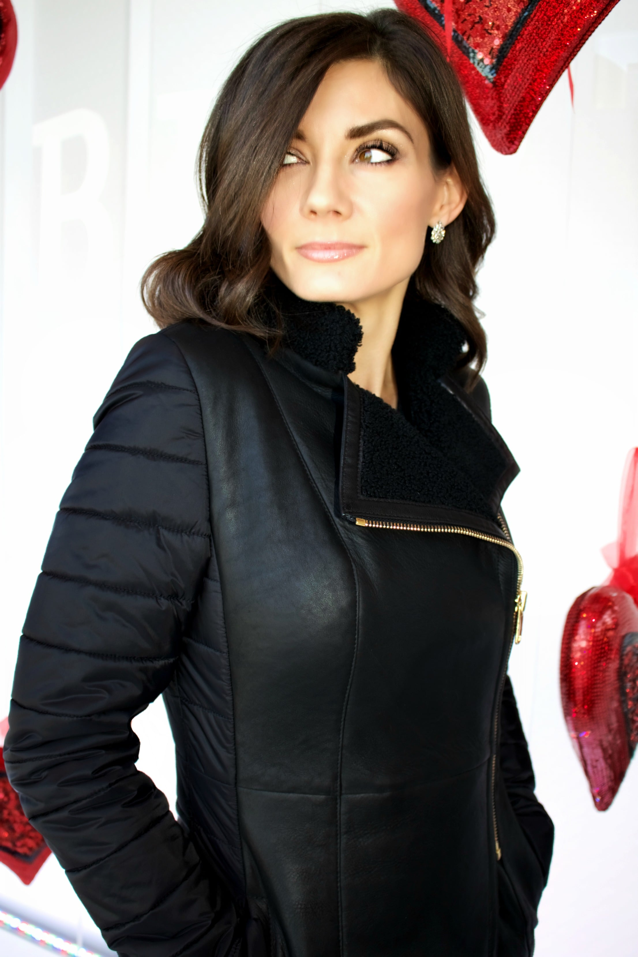 Jo Peters Leather and Down Coat Available in Store & Included in our Semi Annual Sale!
