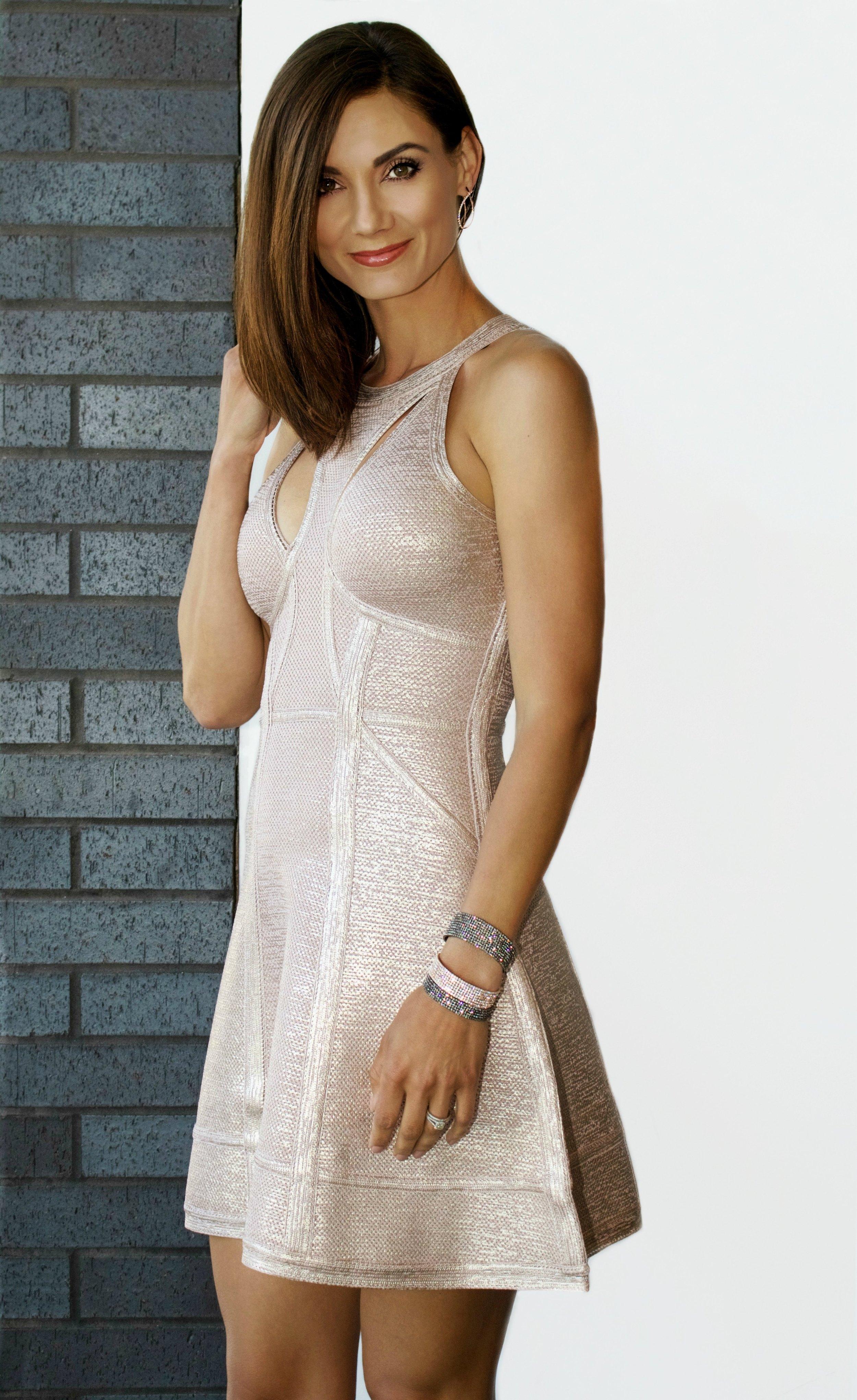 Alina Foil Bird Eye Crochet Jacquard Dress