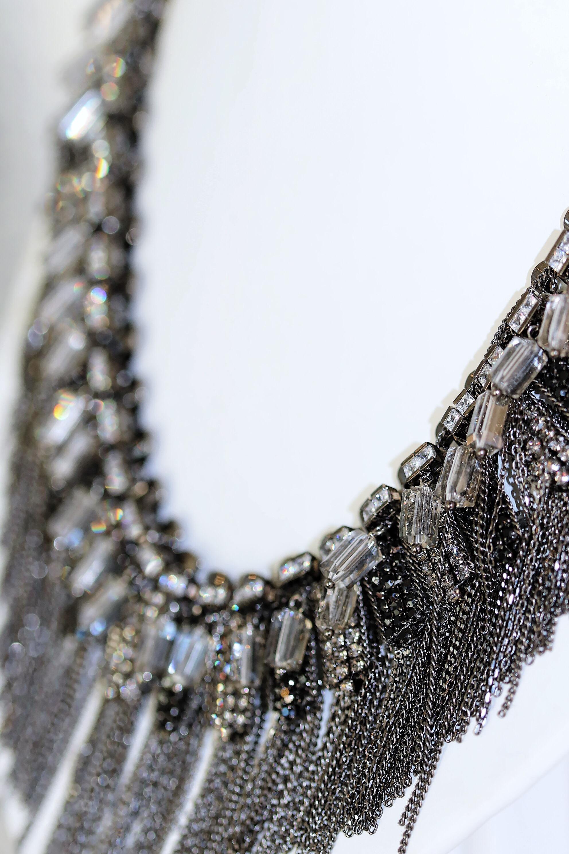 Pillar Cut Swarovski Crystal Necklace //$890