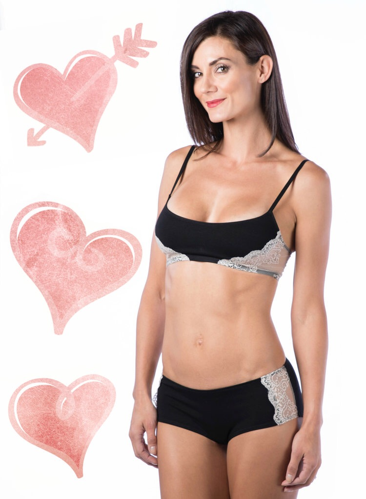 So Fine with Lace Bralette //Black/Ivory //$60;SoFine with Lace Hipster // Black/Ivory //$43