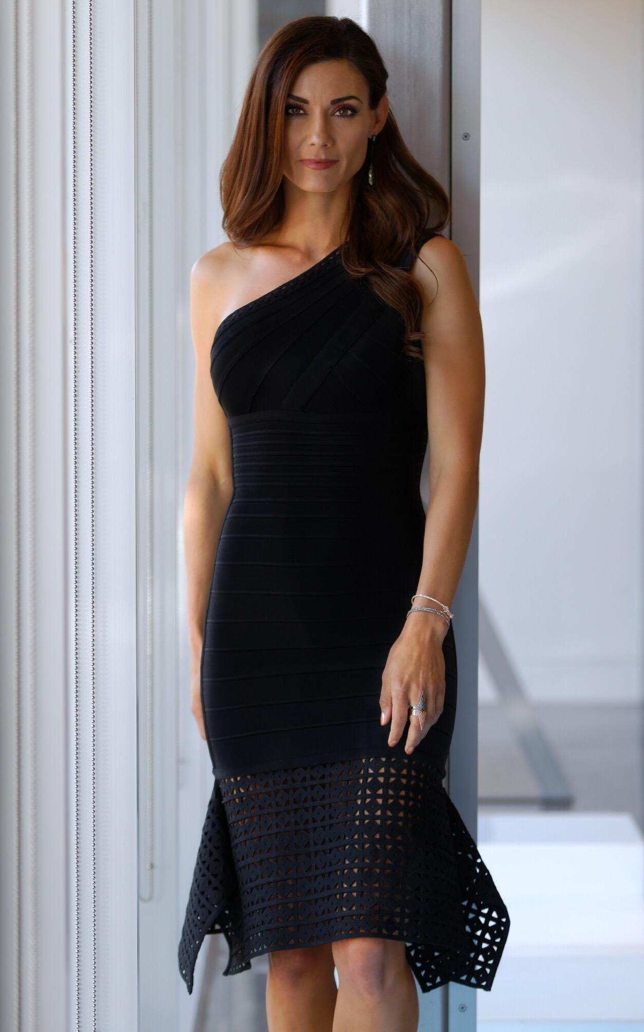 Portia Dress, Black- Herve Leger