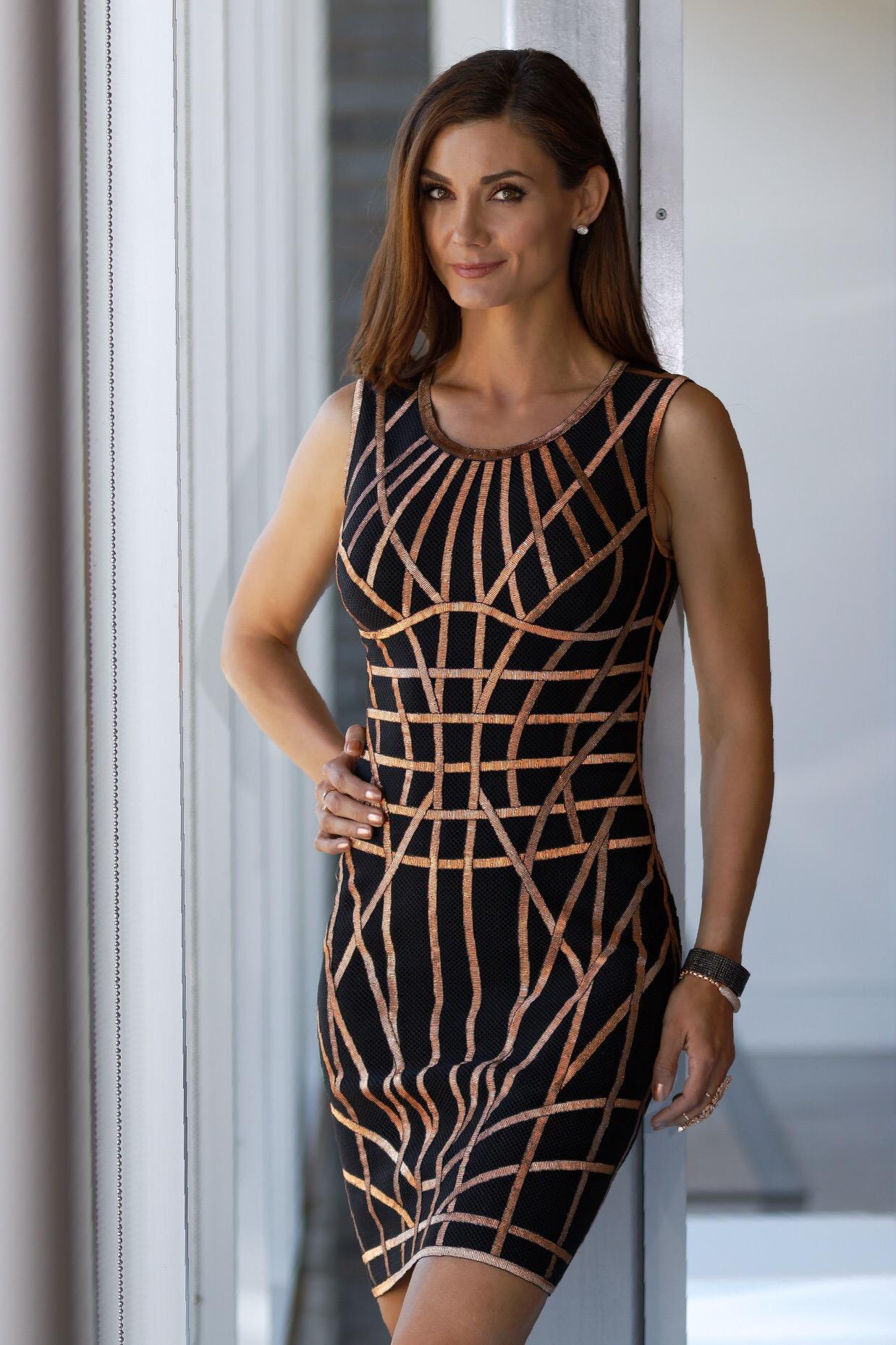 Romee Black Combo Dress- Herve Leger