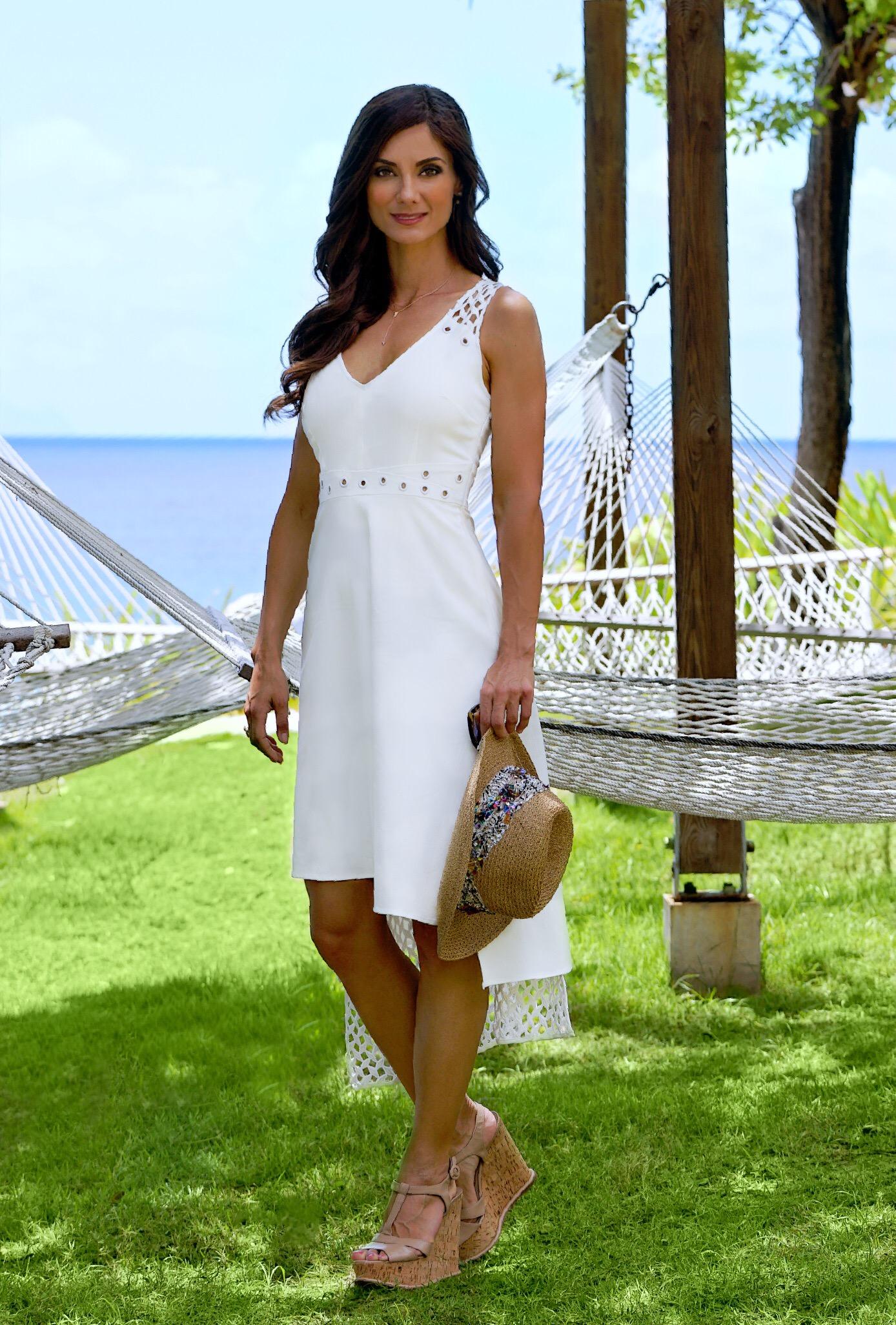 Rhoswen Dress, White- Staci Snider
