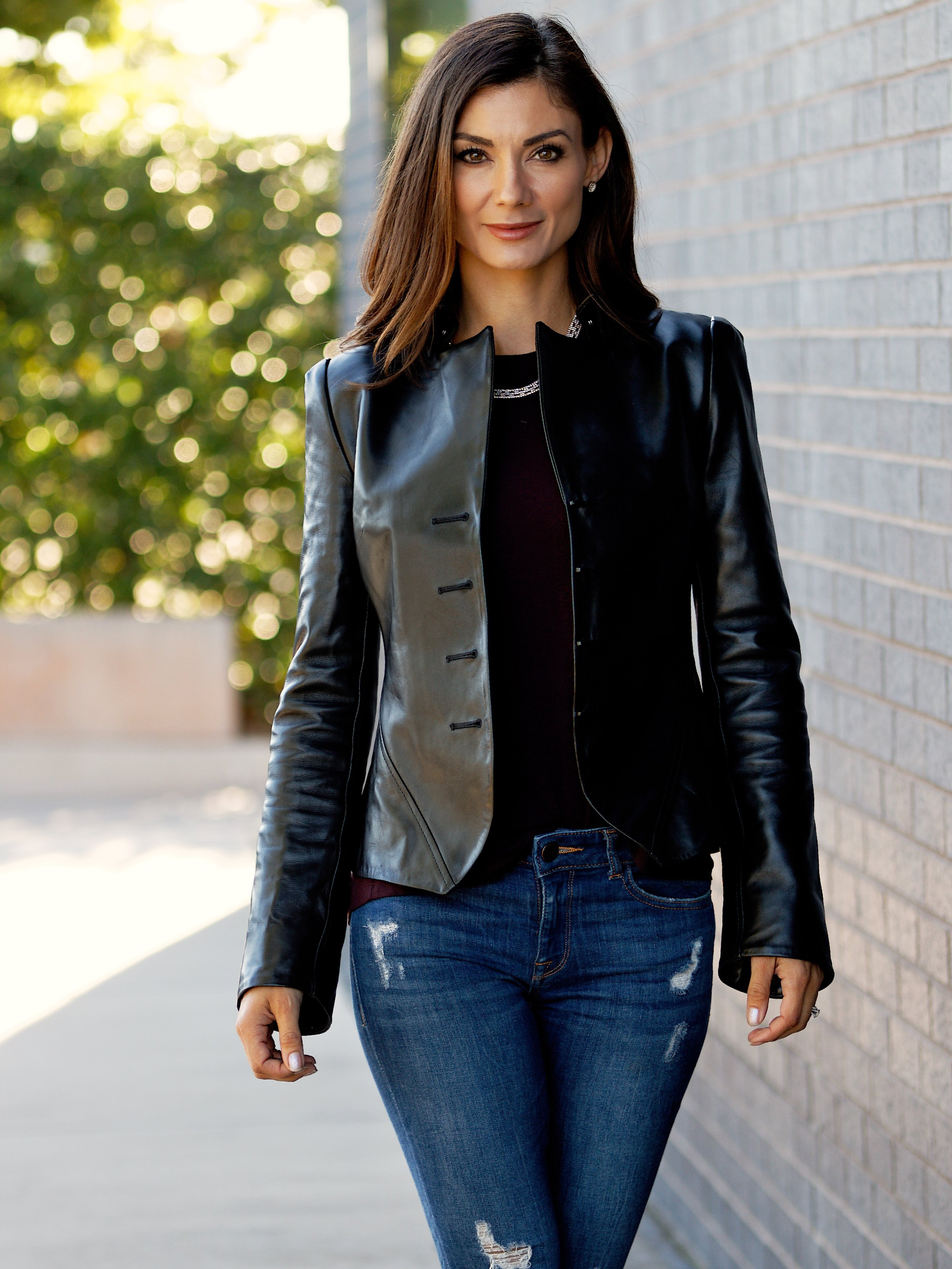 Umbra Leather Jacket w/ Hooks Lambskin Plonge