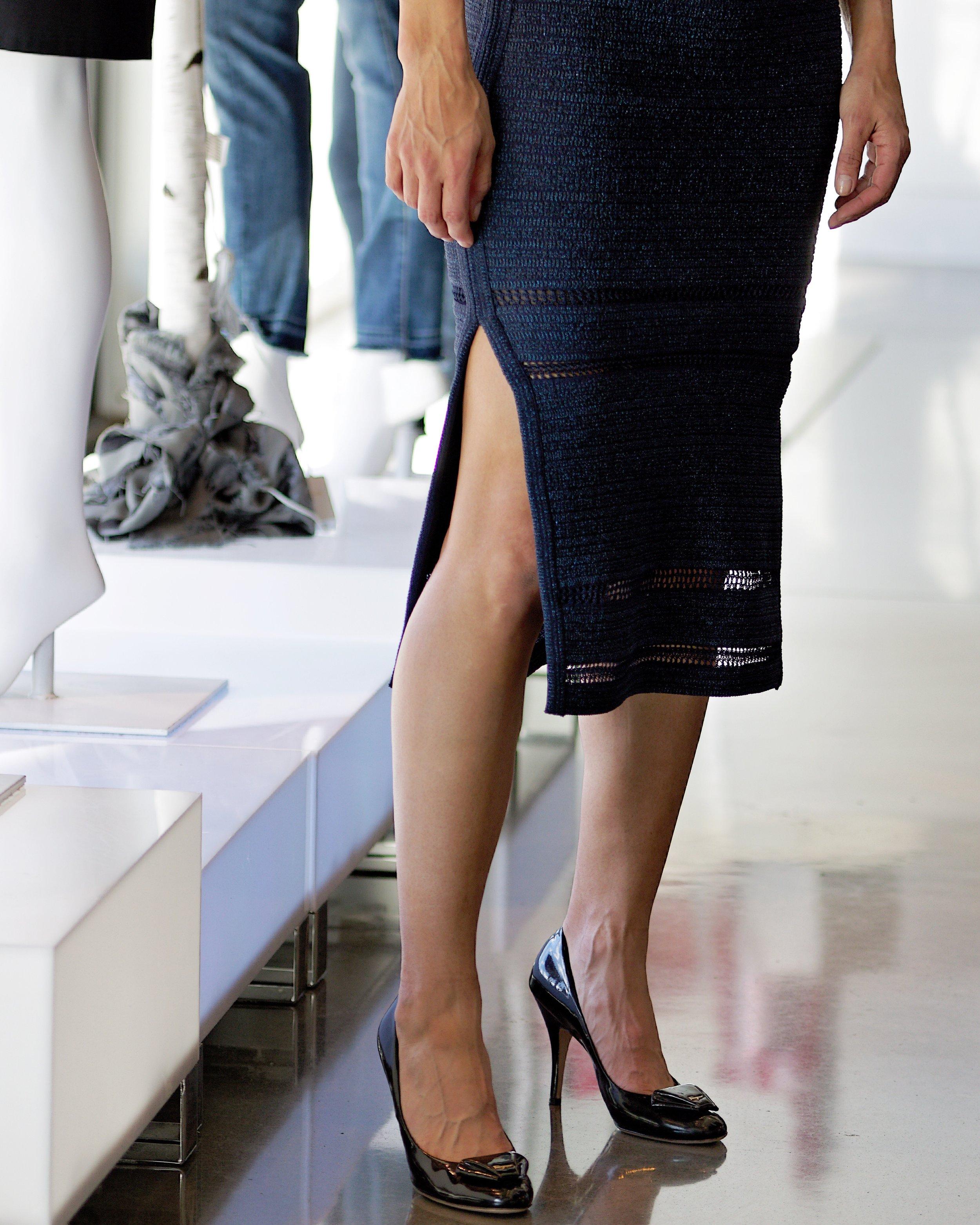 Lyrex Embelished Crochet Flared Skirt