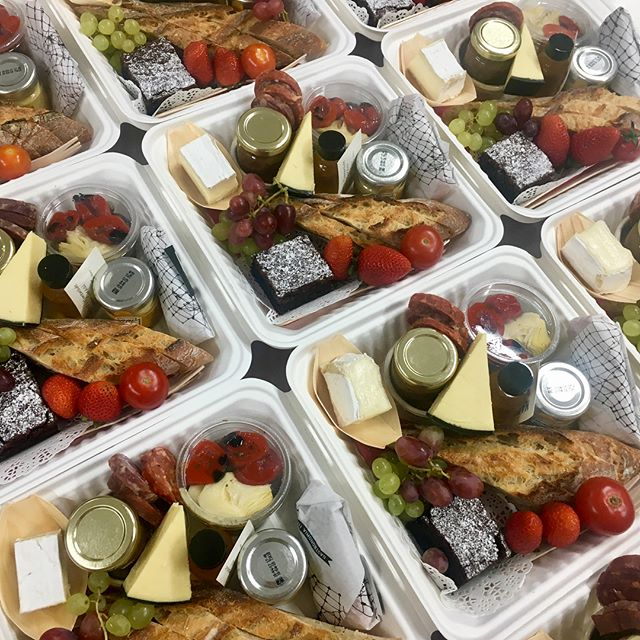 Corporate Antipasto Boxes for the F1  Today . . .  #formula1 #jackbrabham #corporatecatering @f1