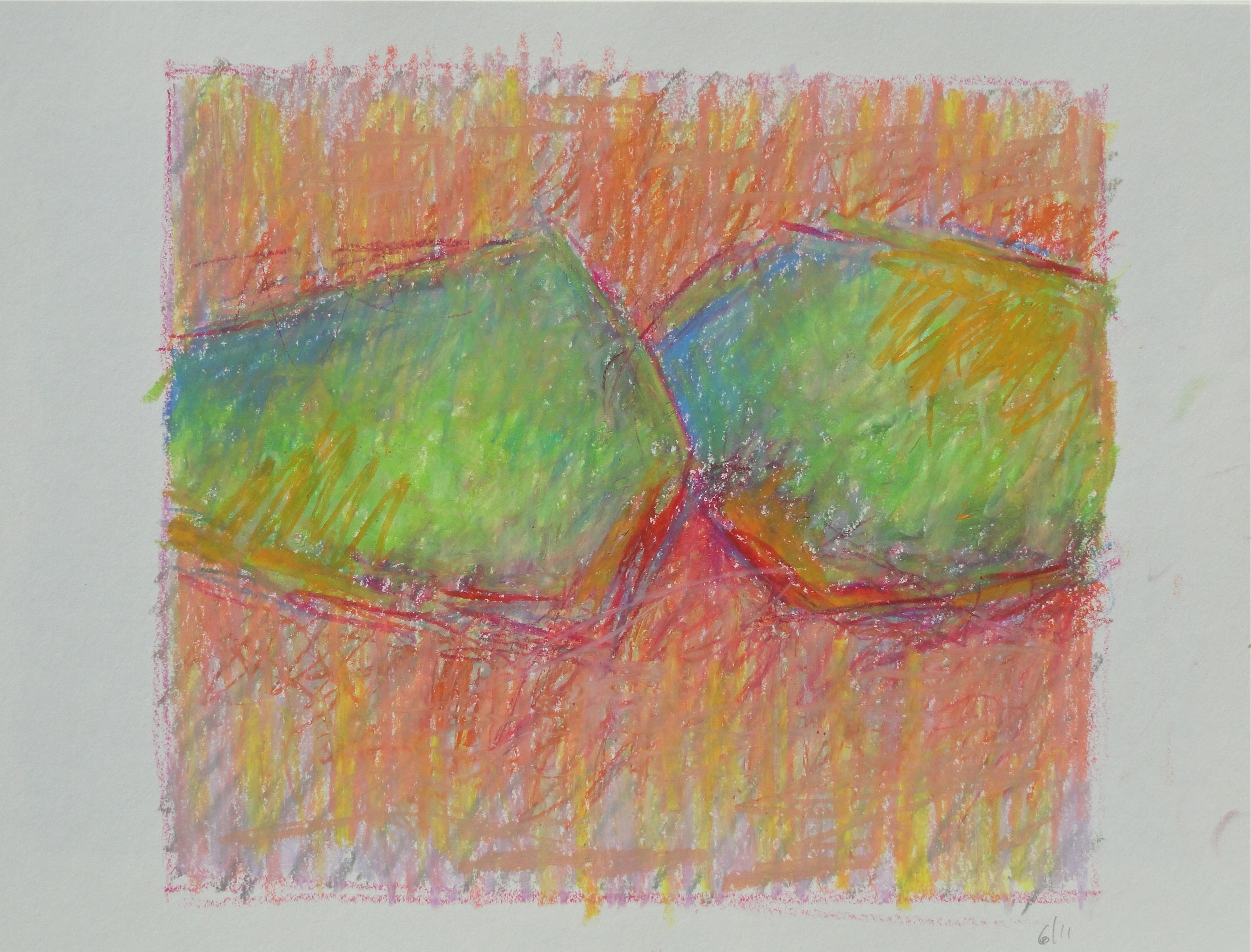 "oil pastel 2009 7 1/2 x 8 1/2"""