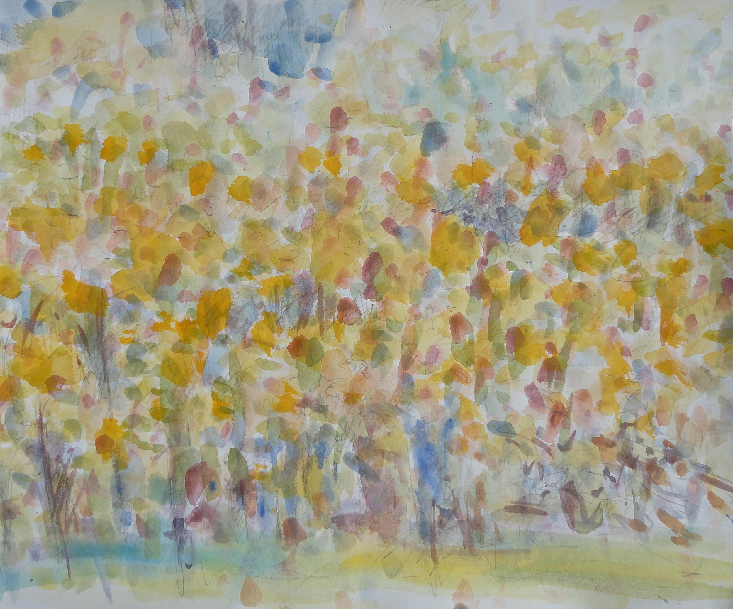 """14x17"""" gouache/pencil 2011"""