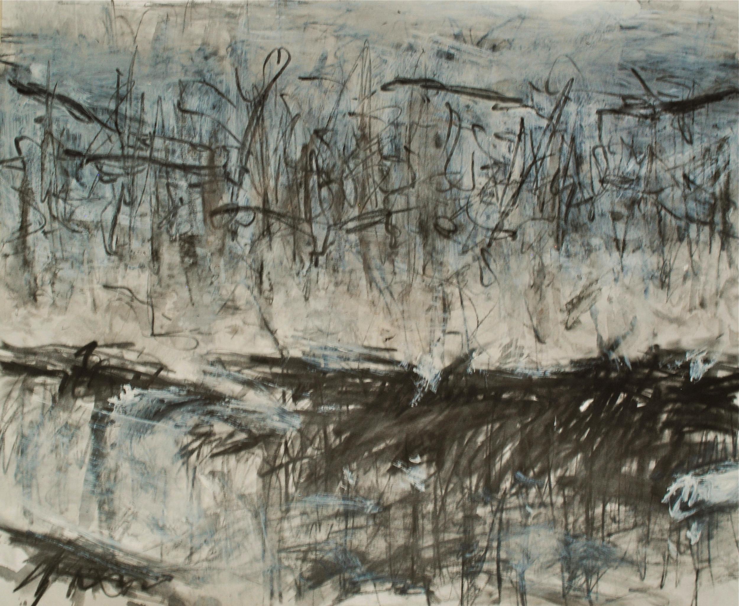 """14x17"""" graphite crayon/gesso 2013"""