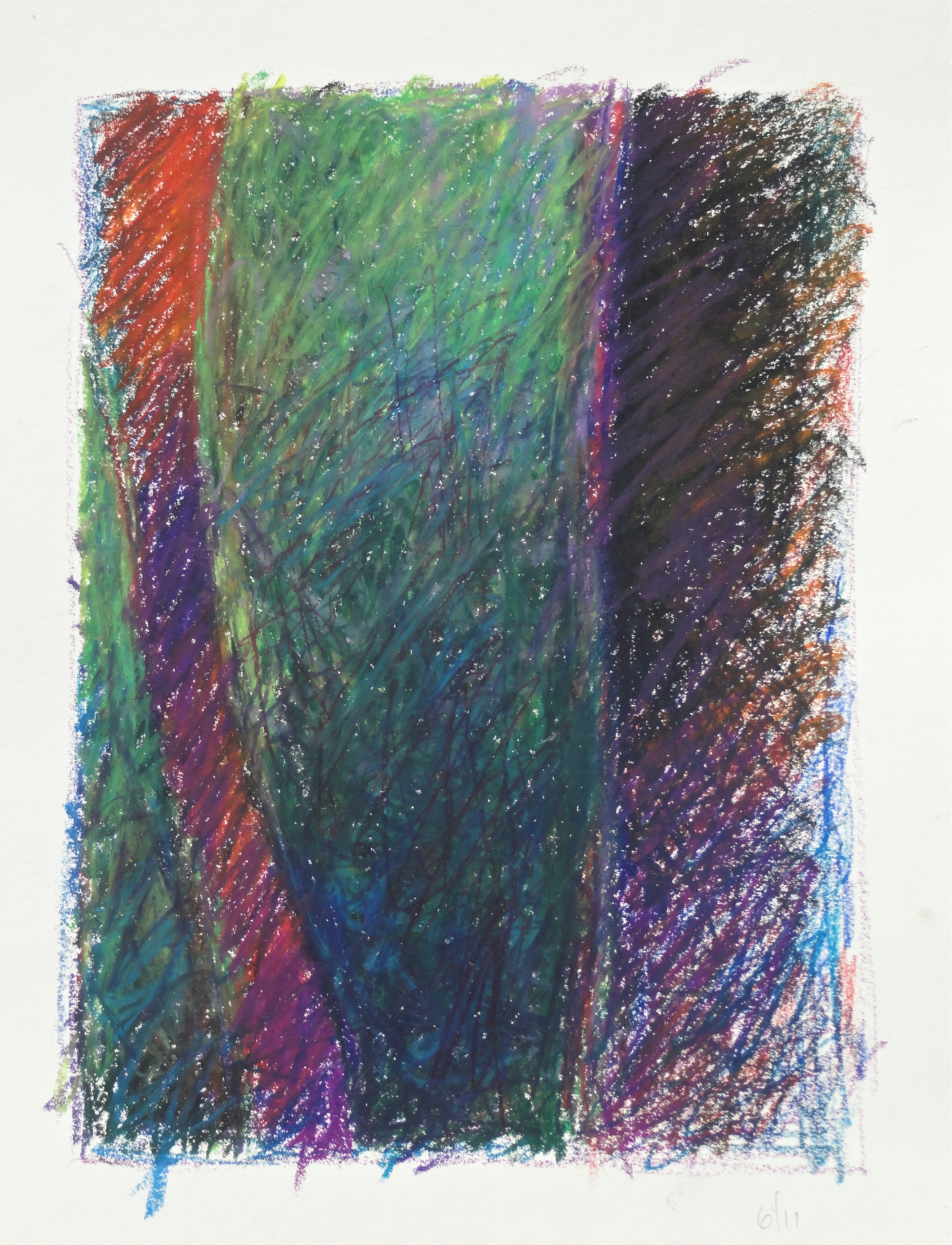 "9 1/2 x 6 3/4"" oil pastel 2011"