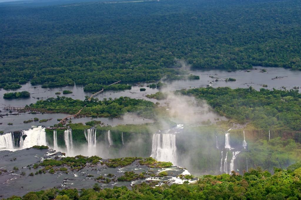 Iguazu Falls from helicopter #4, Brazil, 15 Apr 2012
