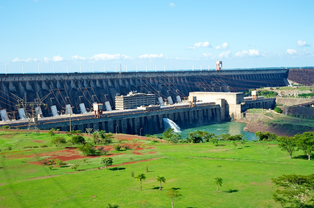 Control centre on border, Itaipu Power Station, Paraguay Brazil common zone, 17 Apr 2012
