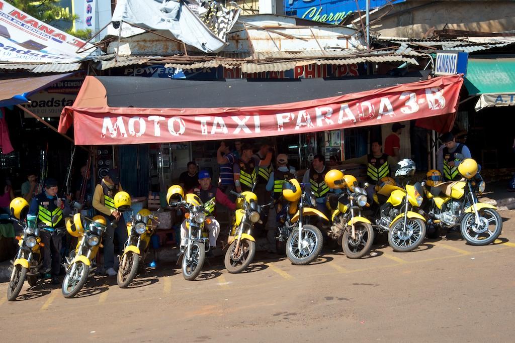 Motor taxis, Quidad del Este, Paraguay, 17 Apr 2012