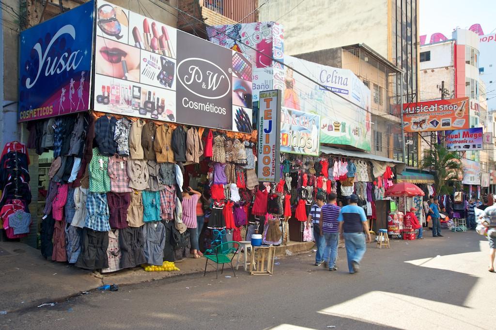 Quidad del Este street scene, Paraguay, 17 Apr 2012