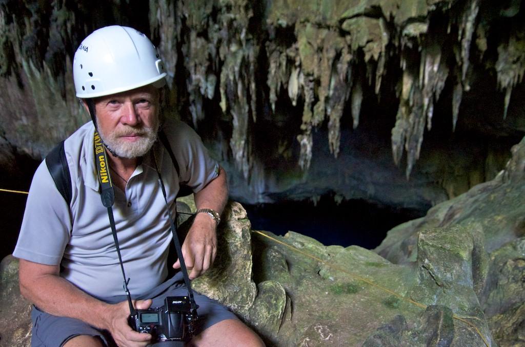 Tony in Gruta do Lago Azul, Blue Lagoon Cave, Bonito, Brazil, 18 Apr 2012