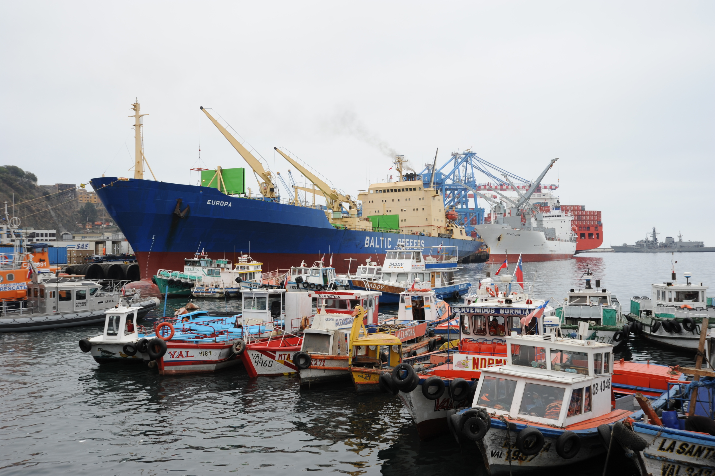Harbour at Valparaiso, Chile, 27 Mar 2012