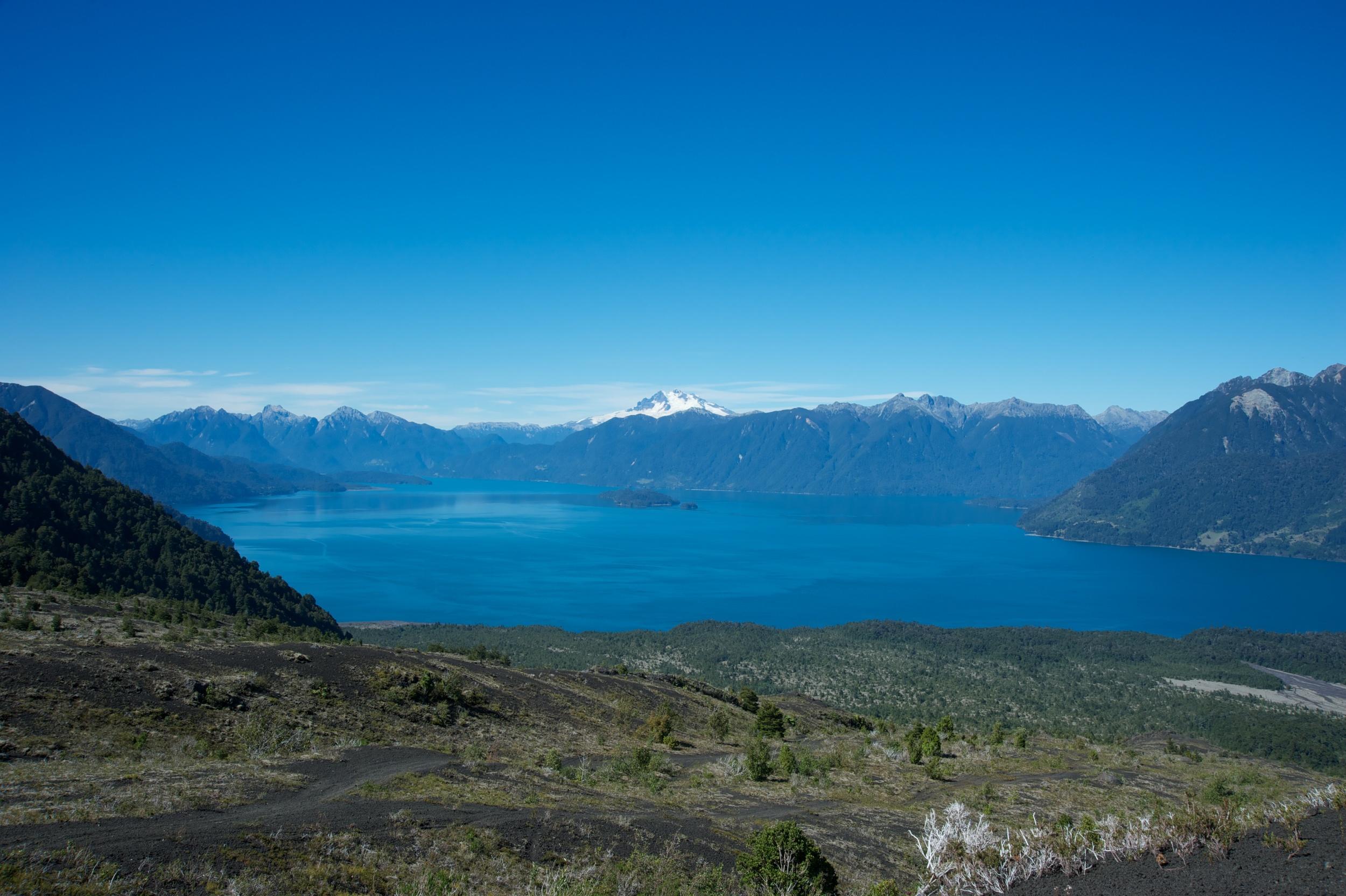 View over Lago Todos los Santos, Lake District, Chile, 28 Mar 2012