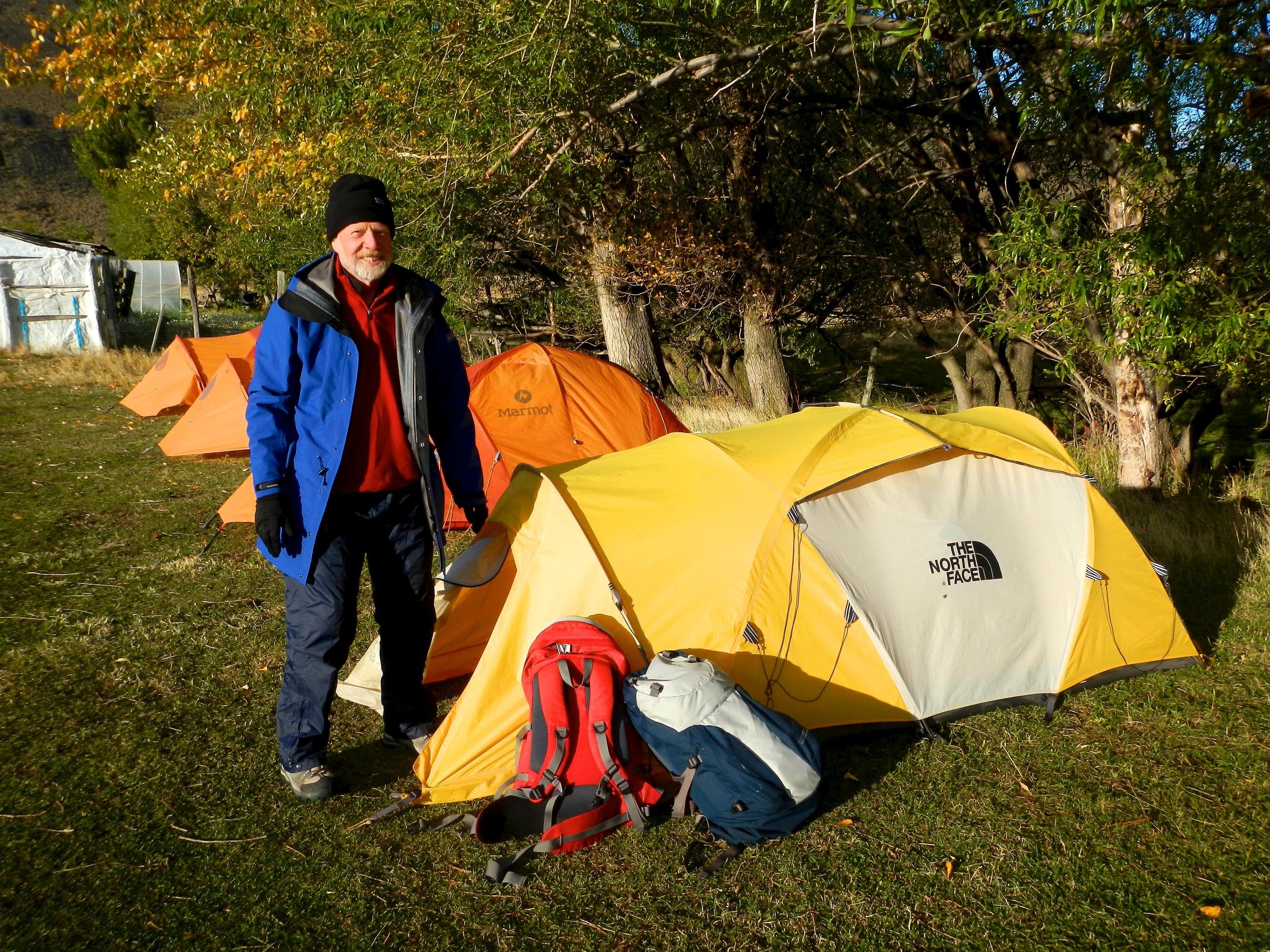 Camp site, Torres del Paine, Patagonia, Chile, 4 Apr 2012
