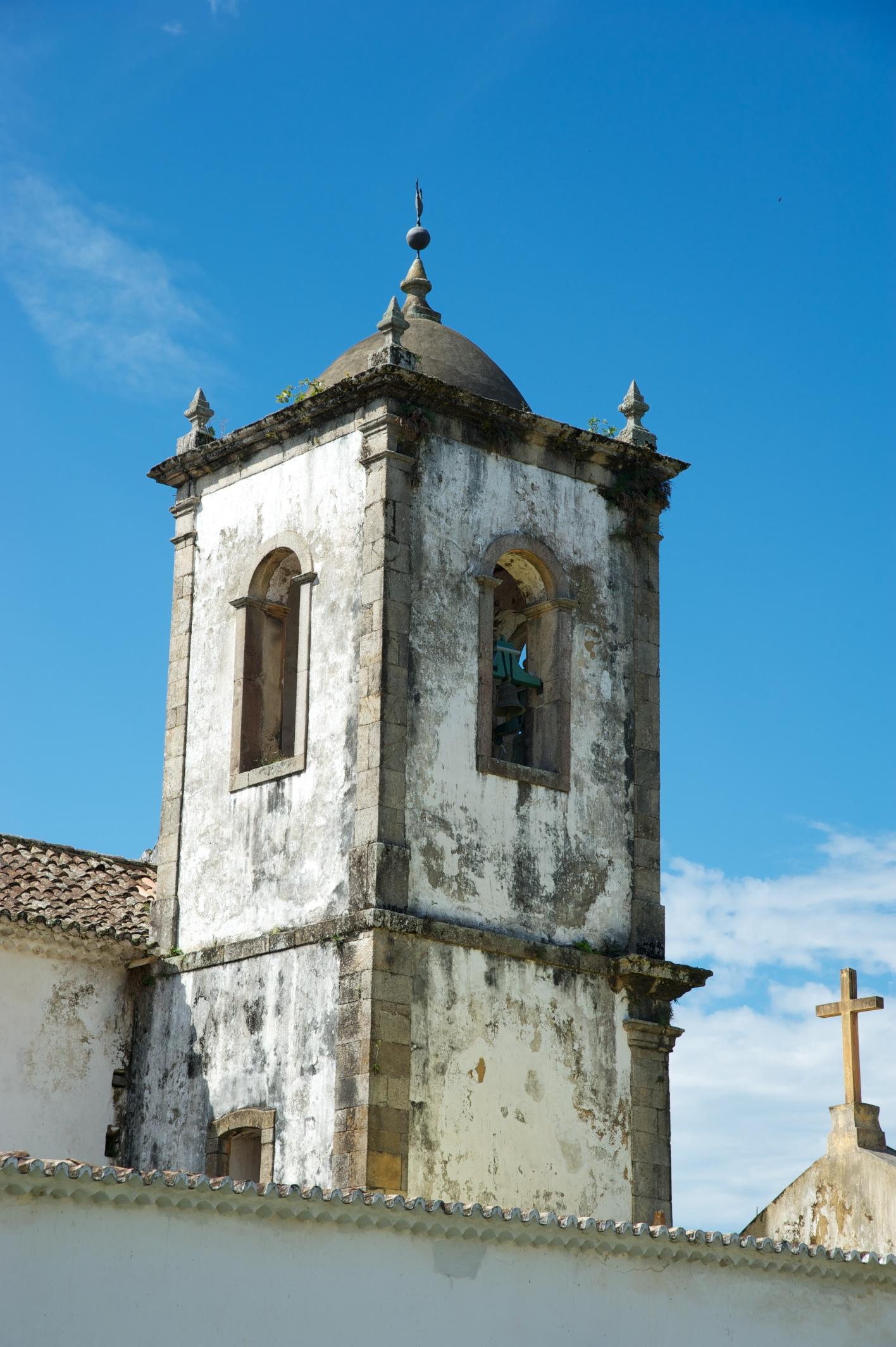 Church spire, Paraty, Costa Verde, Brazil, 12 Apr 2012