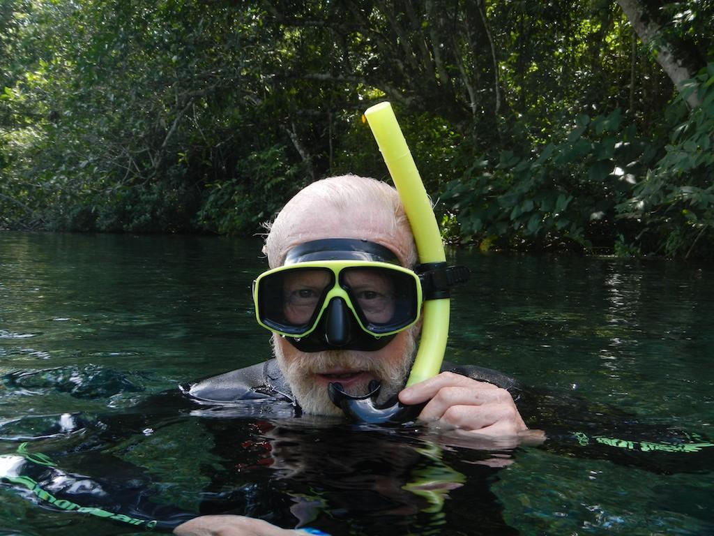 Tony before snorkelling at Prata, near Bonito, Brazil, 19 Apr 2012