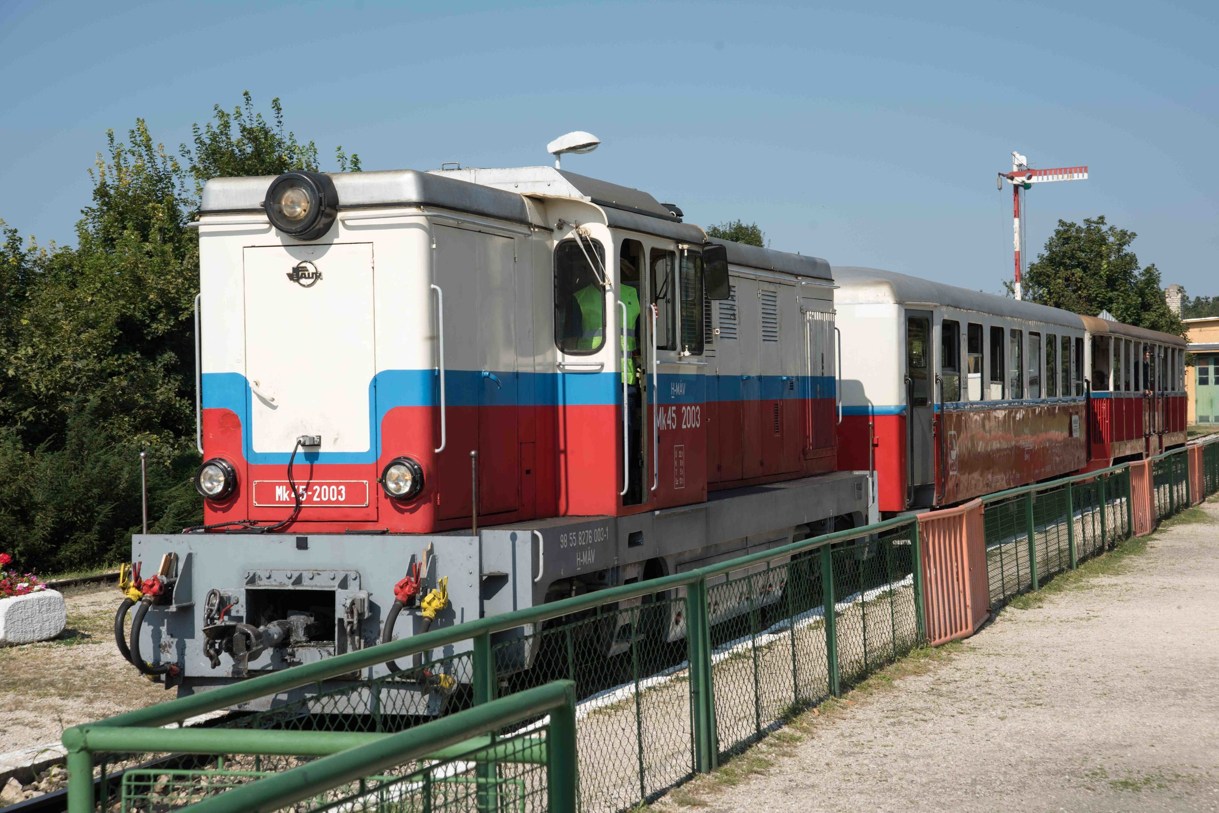 Children's Railway train, Szechenyi-hegy, Buda Hills