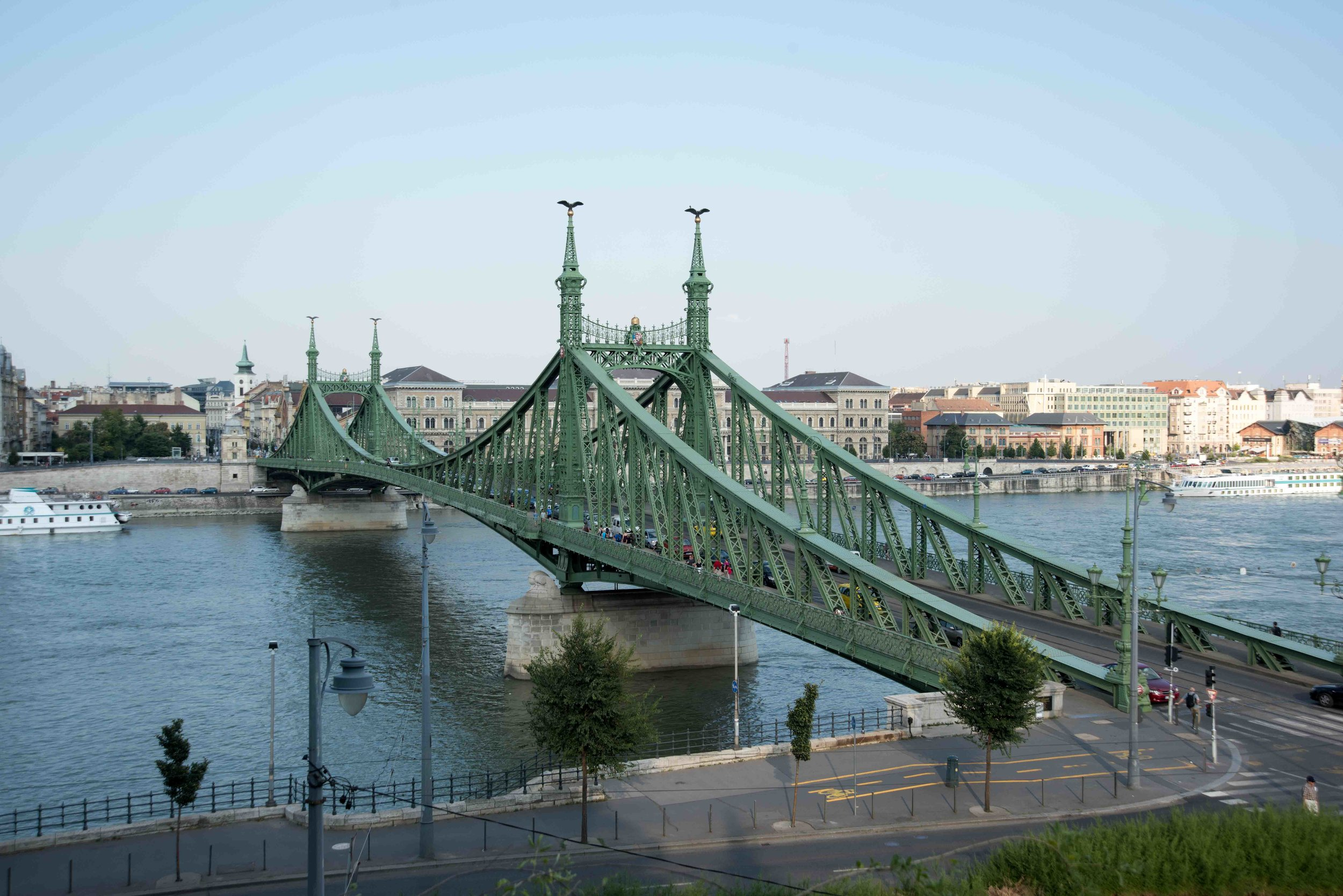 Szabadsag (Liberty) Bridge from Cave Church, Budapest