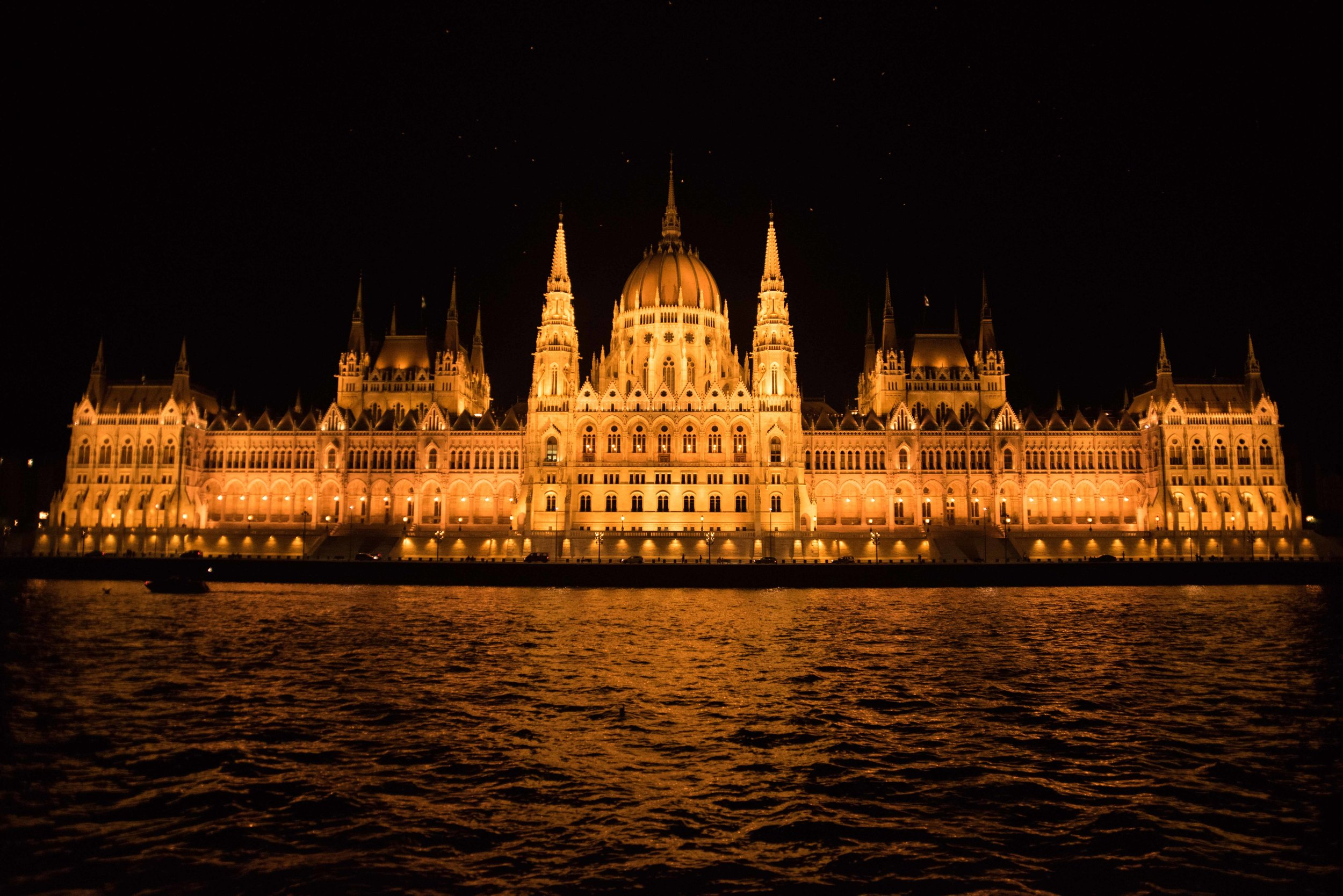 Parliament at night, Budapest